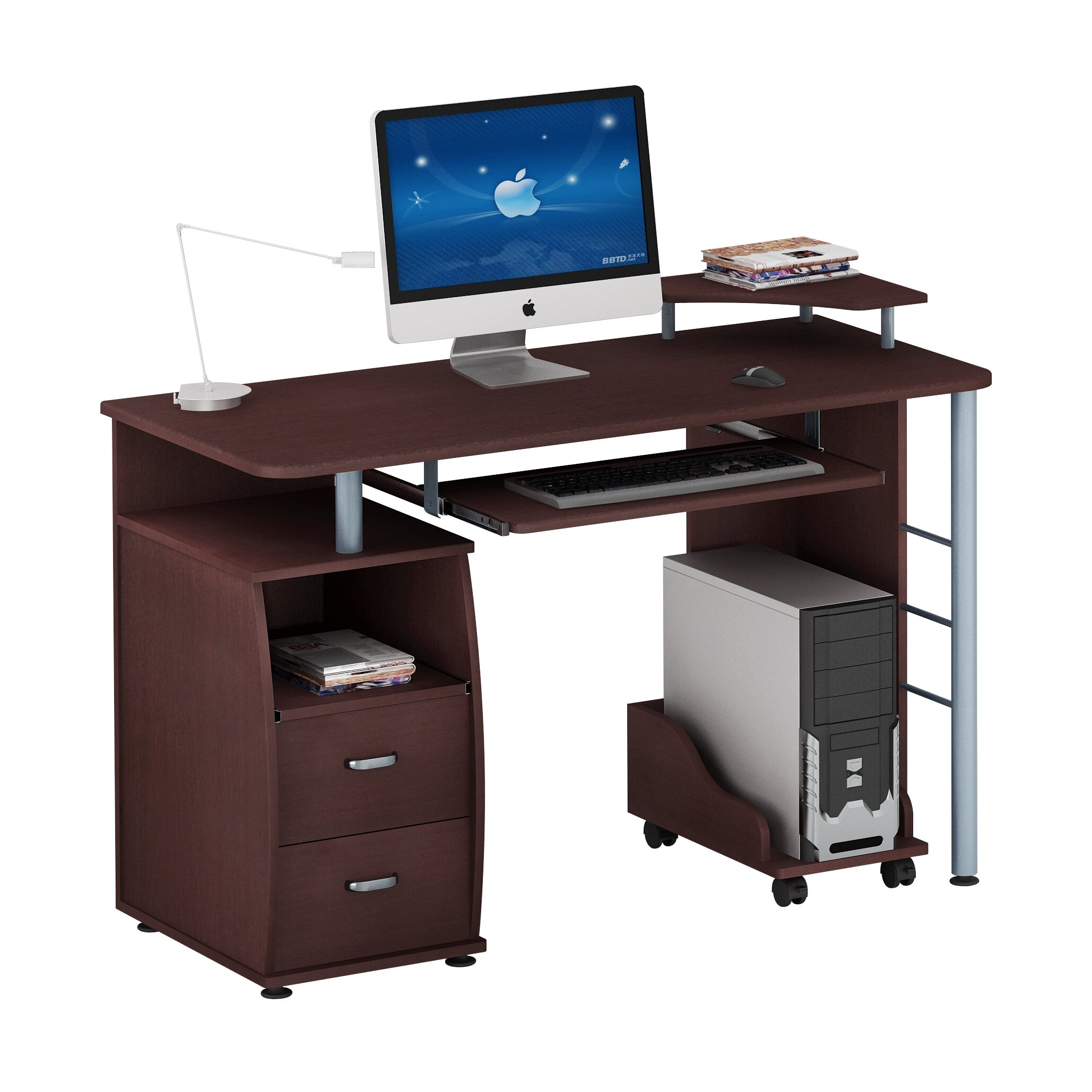 Computer Desk With Printer Storage Home Office Solutions