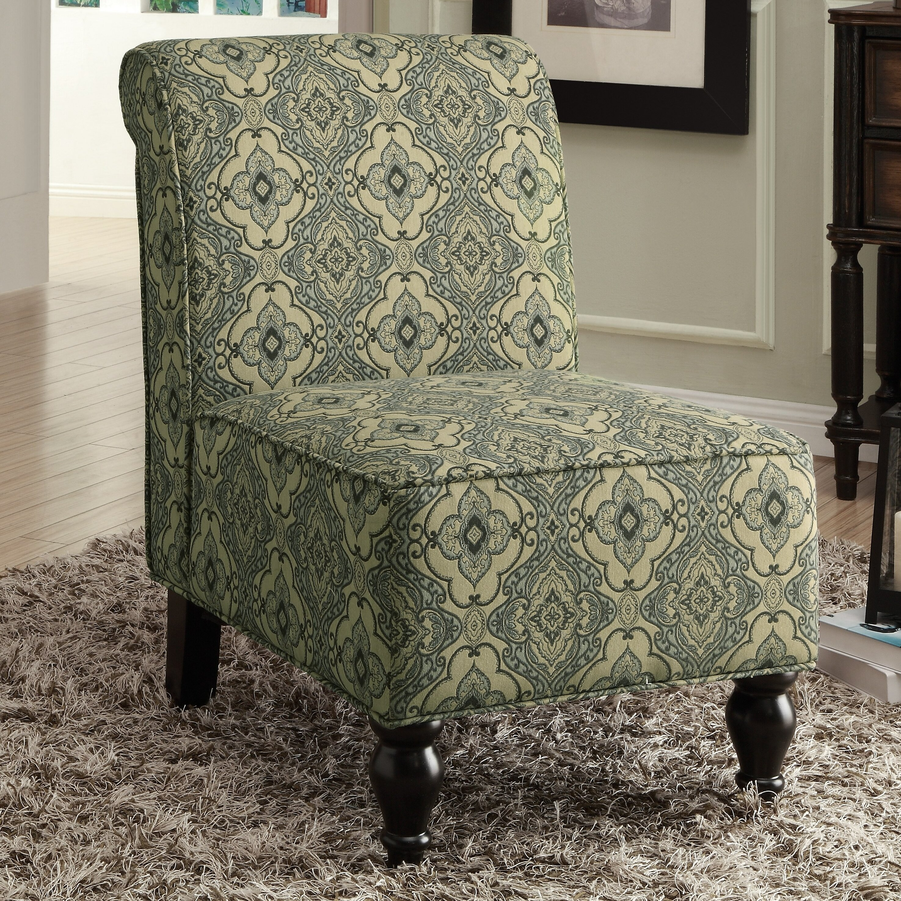 Monarch Specialties Inc I 8058 Fabric Accent Chair: Monarch Specialties Inc. Tapestry Fabric Traditional