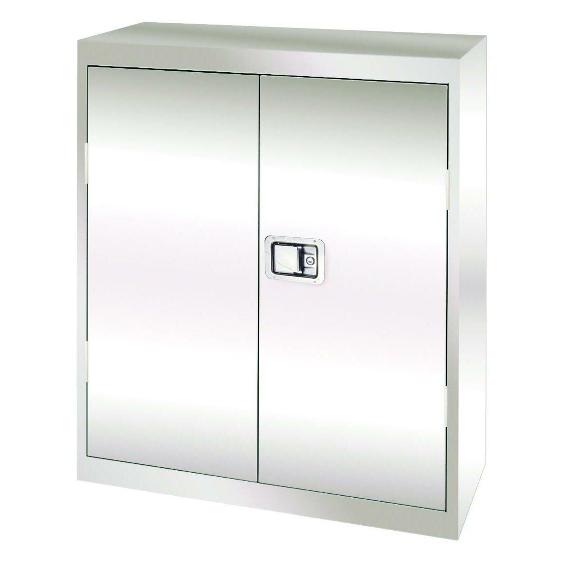Stainless Steel 2 Door Storage Cabinet Wayfair Supply