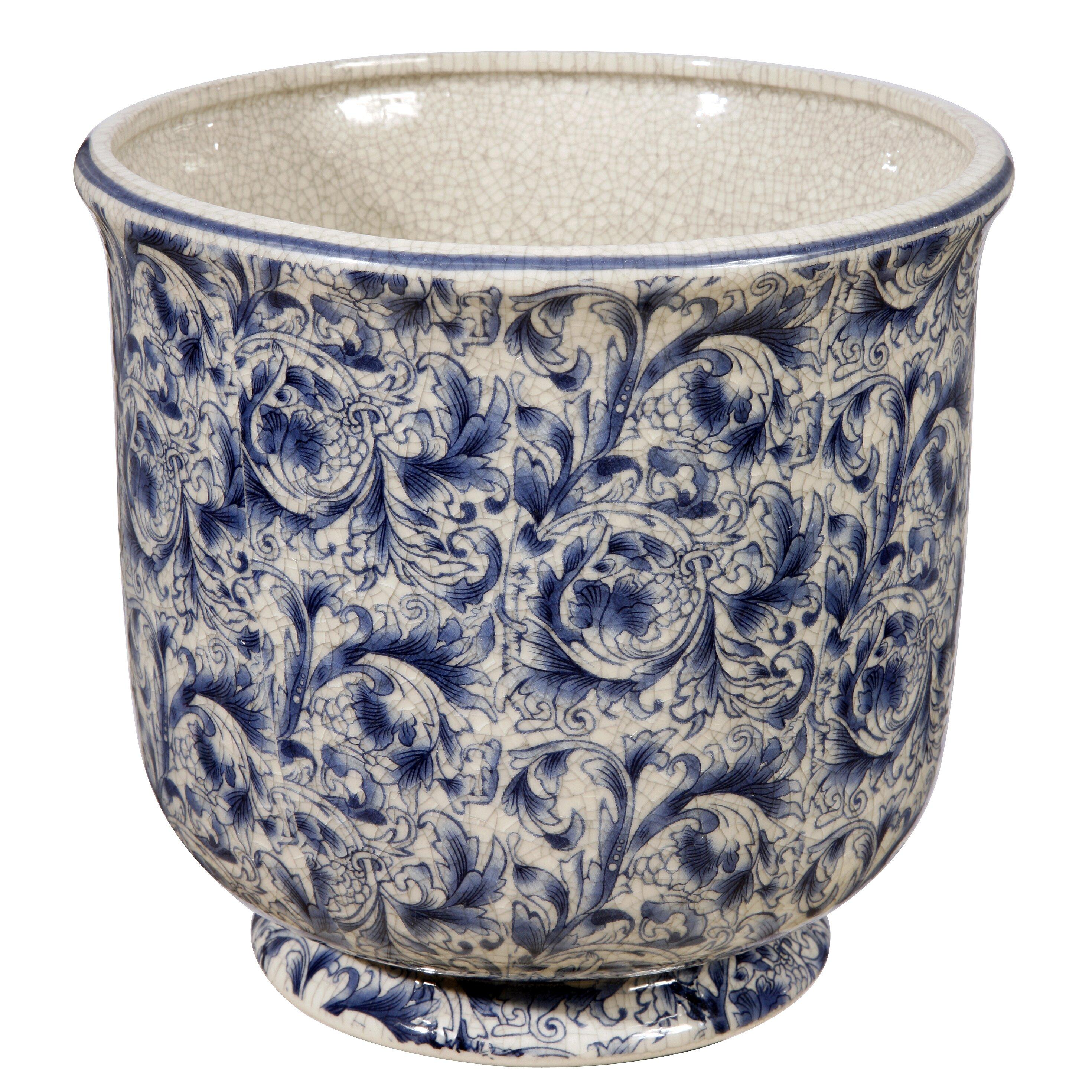 winward designs cache round pot planter reviews wayfair. Black Bedroom Furniture Sets. Home Design Ideas