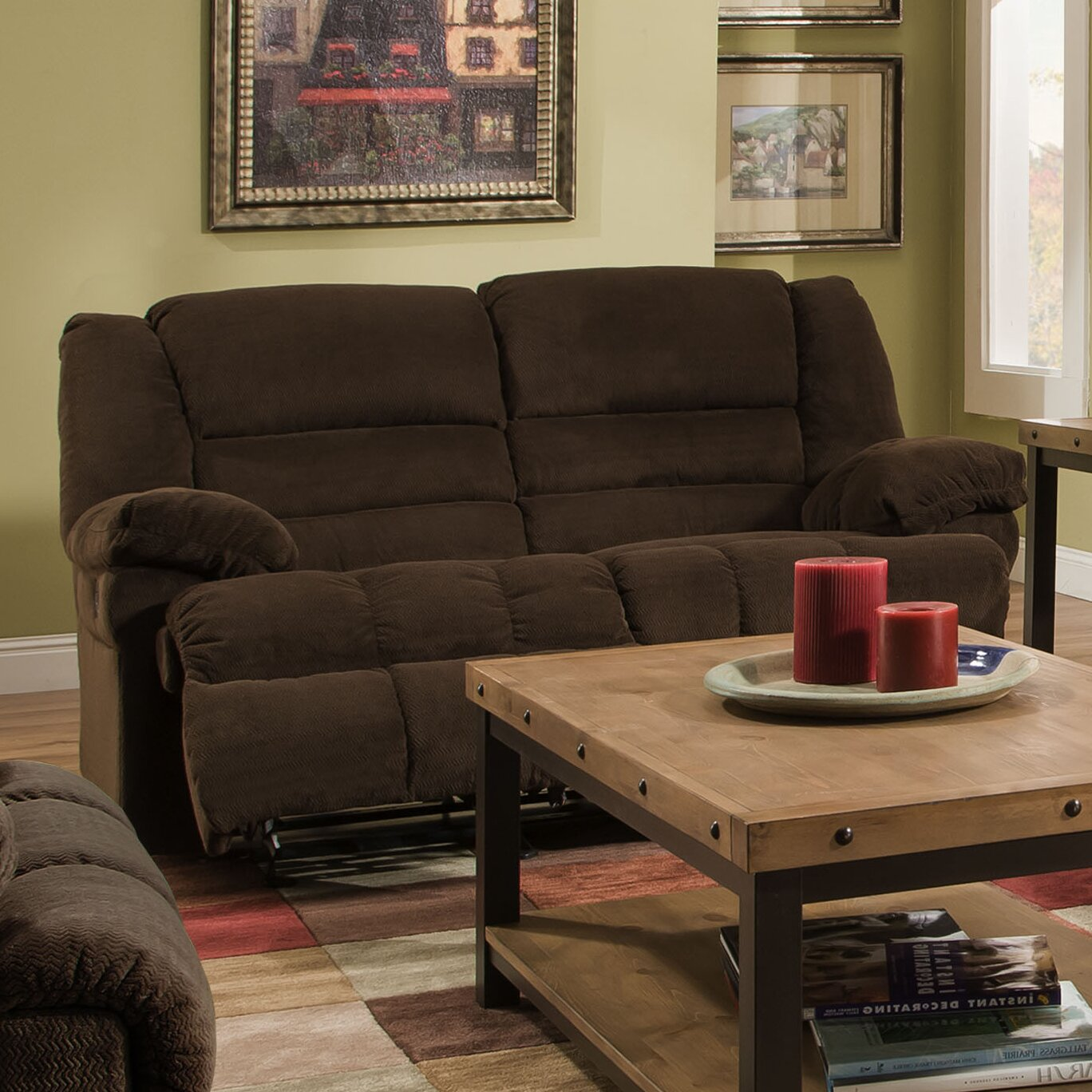 Simmons Upholstery Dynasty Double Motion Loveseat