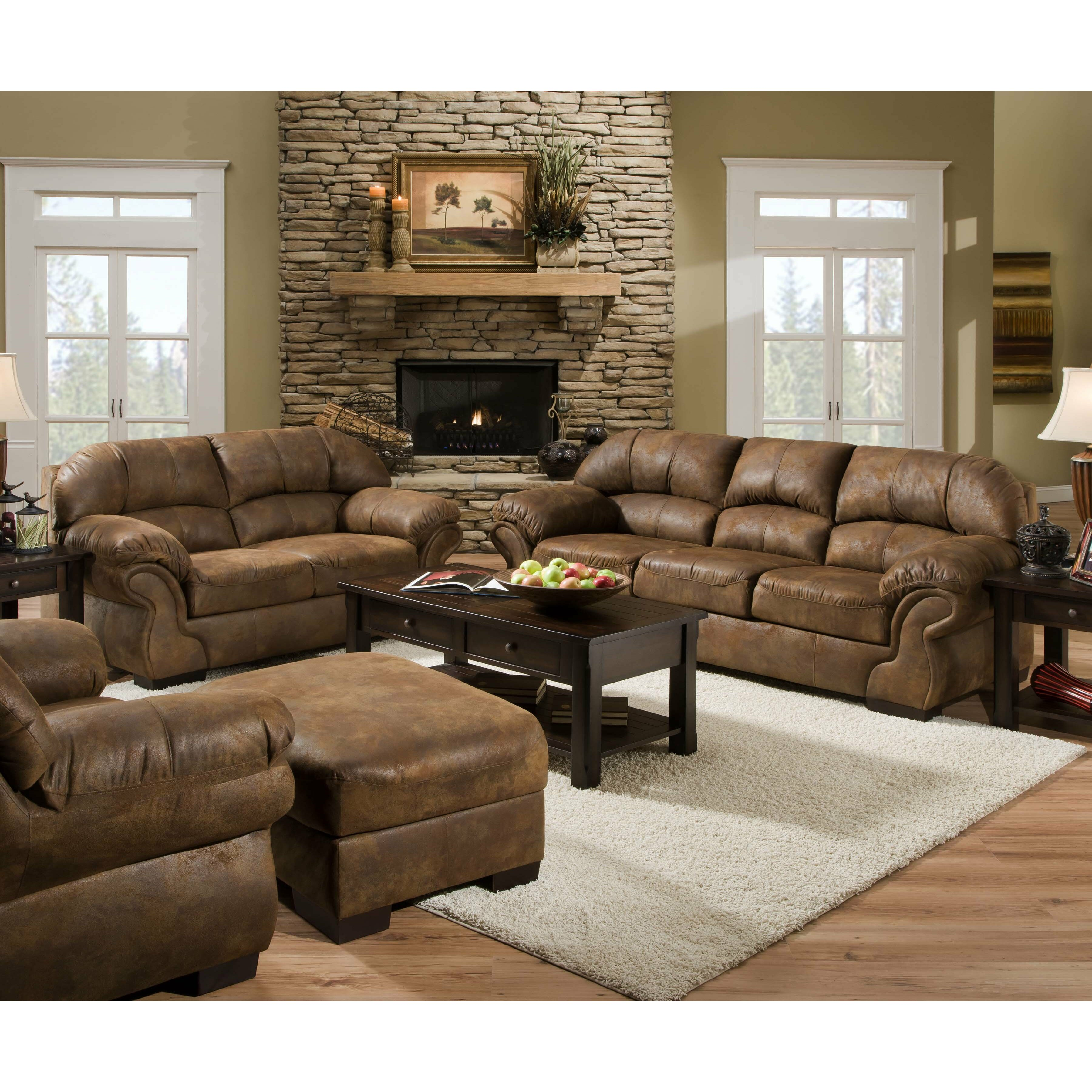 Simmons Living Room Set sofa set in brass 8003slc traditional