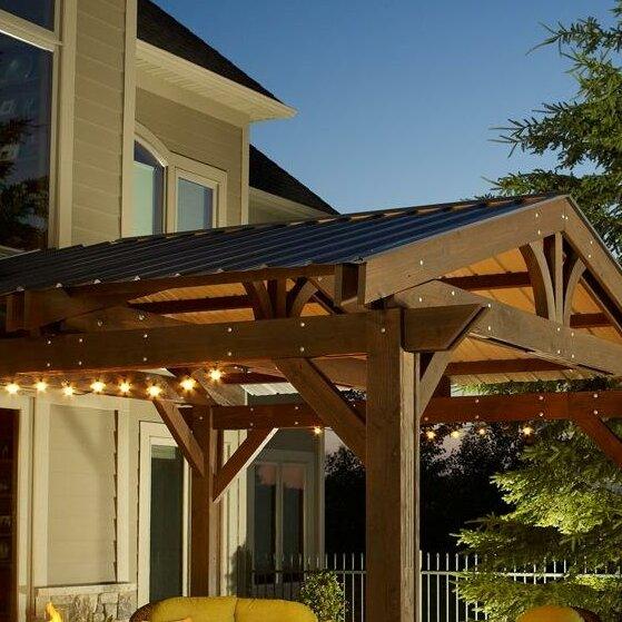 Pergola Designs With Metal Roof: Lodge II Pergola Roof