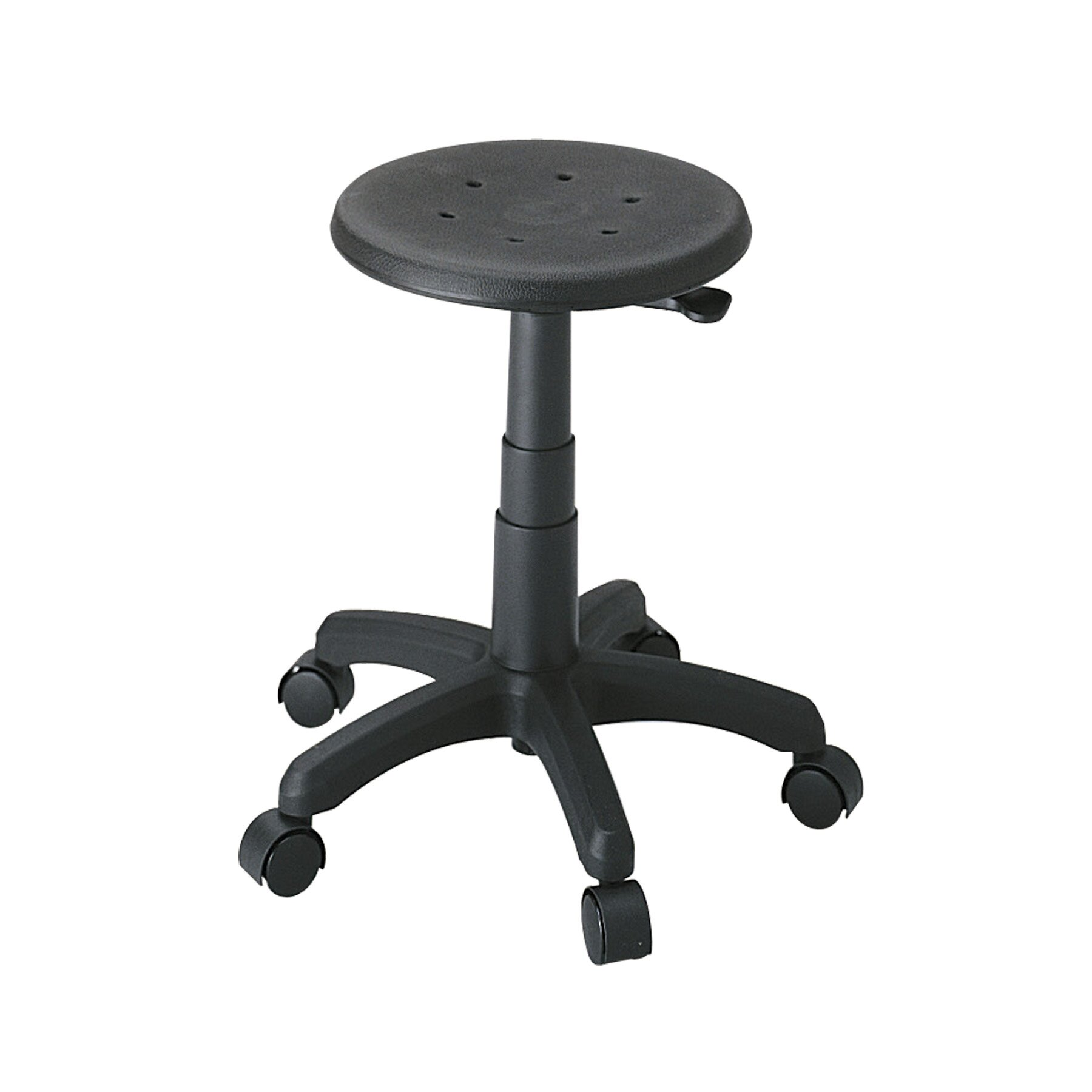 safco products height adjustable office stool with casters reviews wayfair. Black Bedroom Furniture Sets. Home Design Ideas