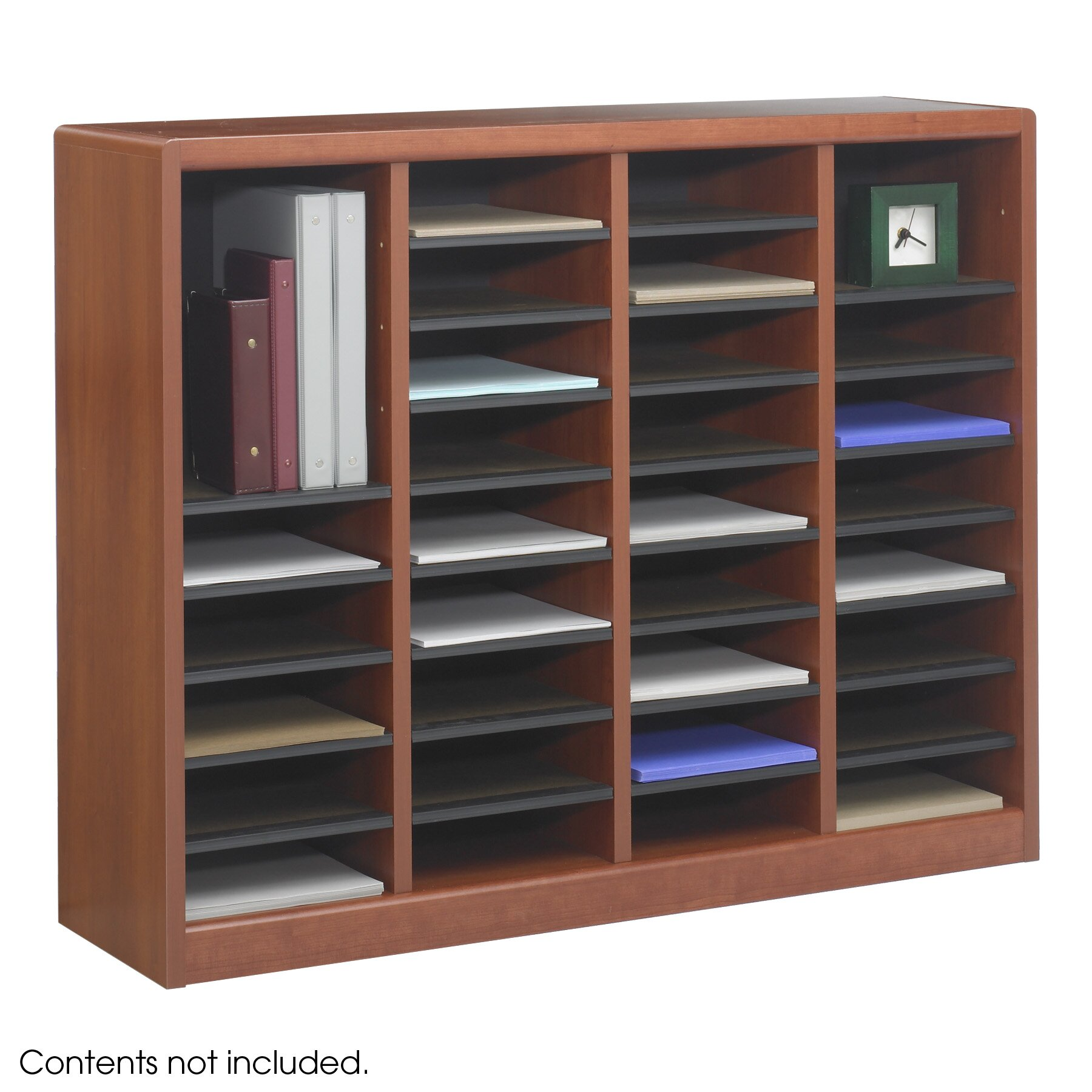 Marvelous photograph of Wood E Z Stor Literature Organizers by Safco Products with #303C9B color and 1800x1800 pixels