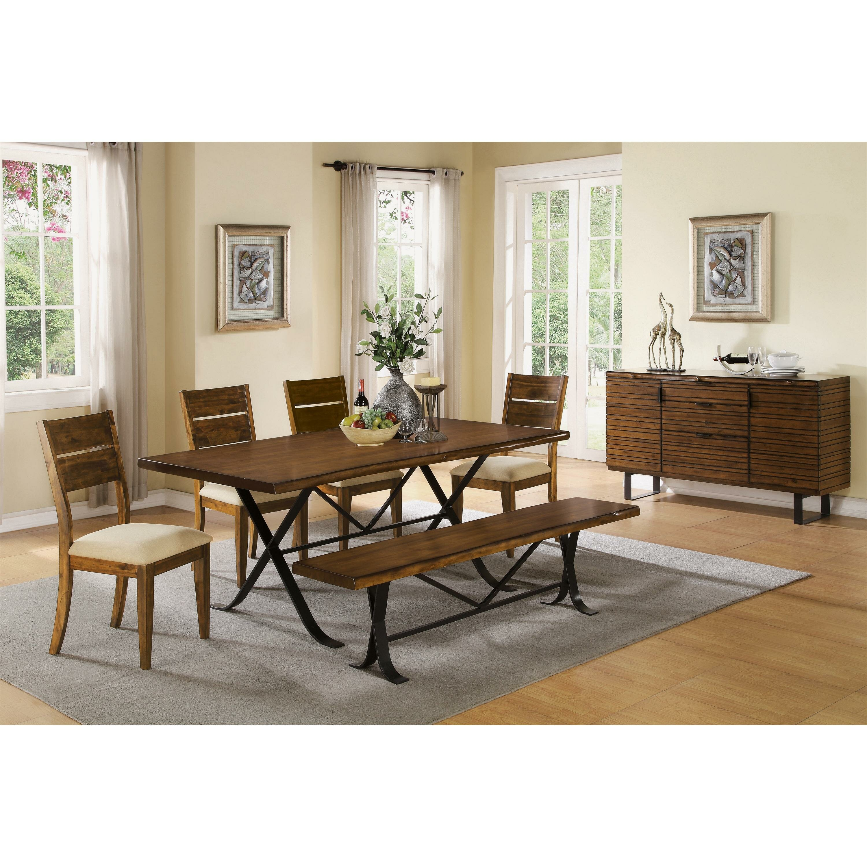 The Kitchen In Boulder: Riverside Furniture Boulder Wooden Kitchen Bench & Reviews