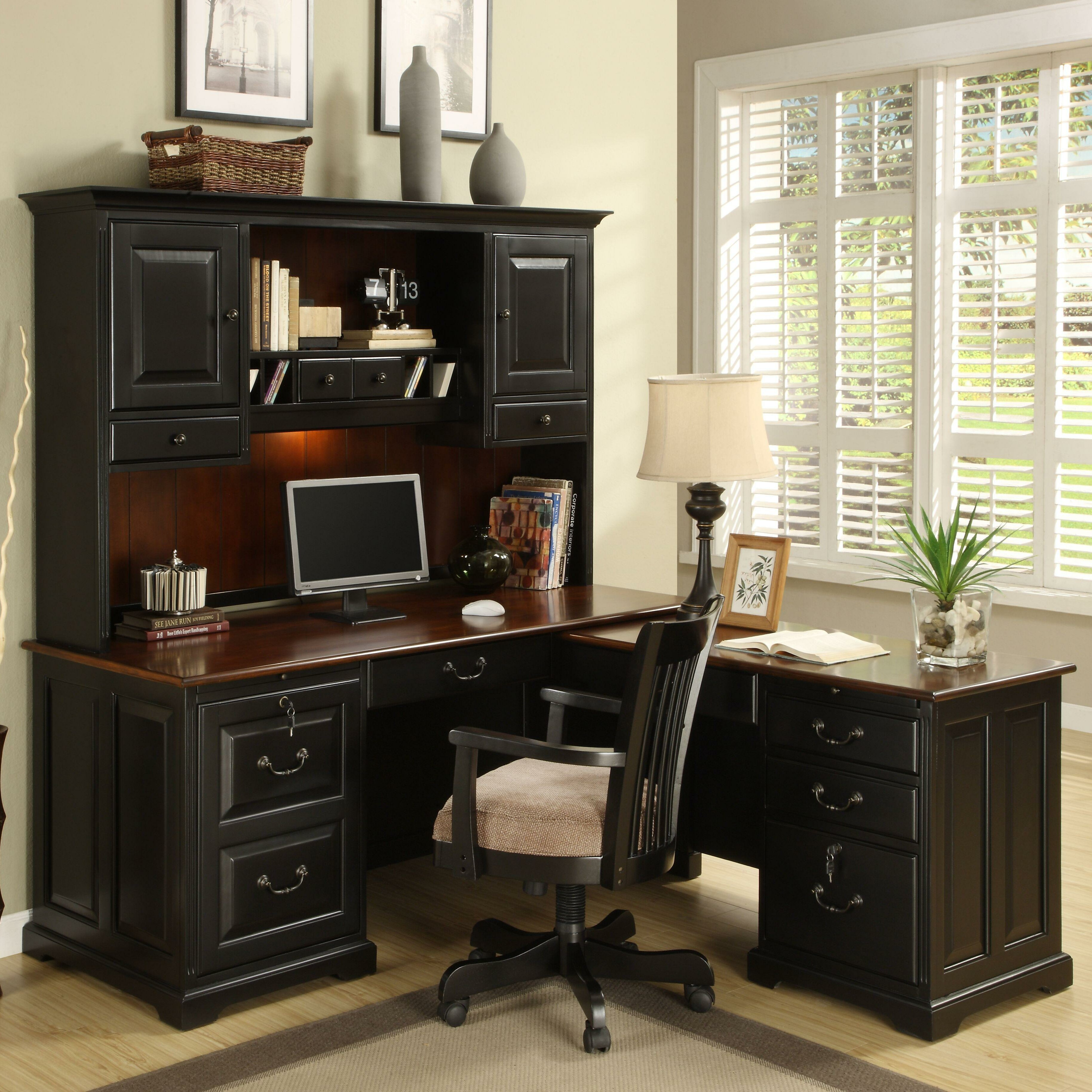 Riverside Furniture Bridgeport 2 Piece L Shape Desk Office Suite Reviews Wayfair