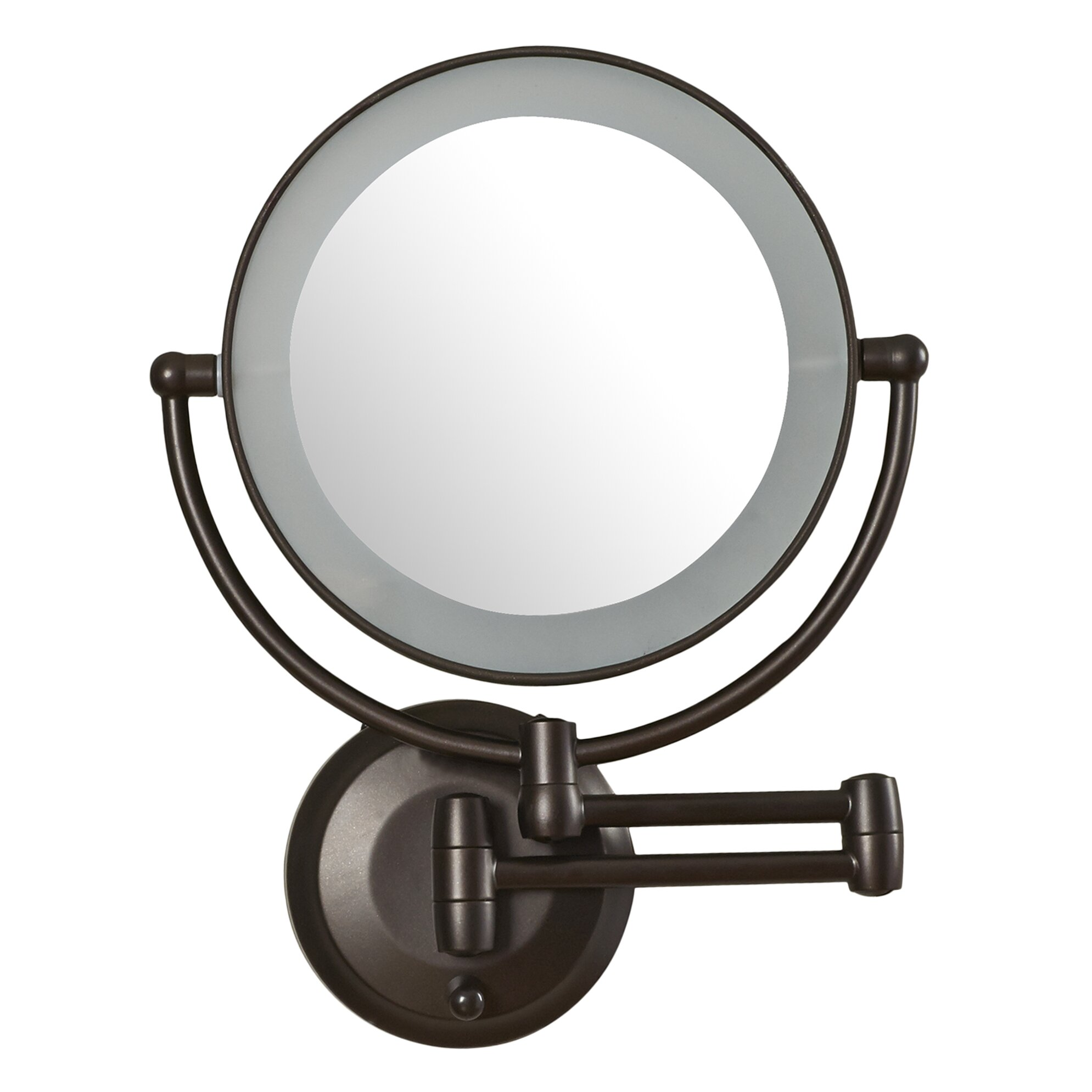 Zadro 10x Magnifying Lighted Makeup Mirror Swing Arm Wall