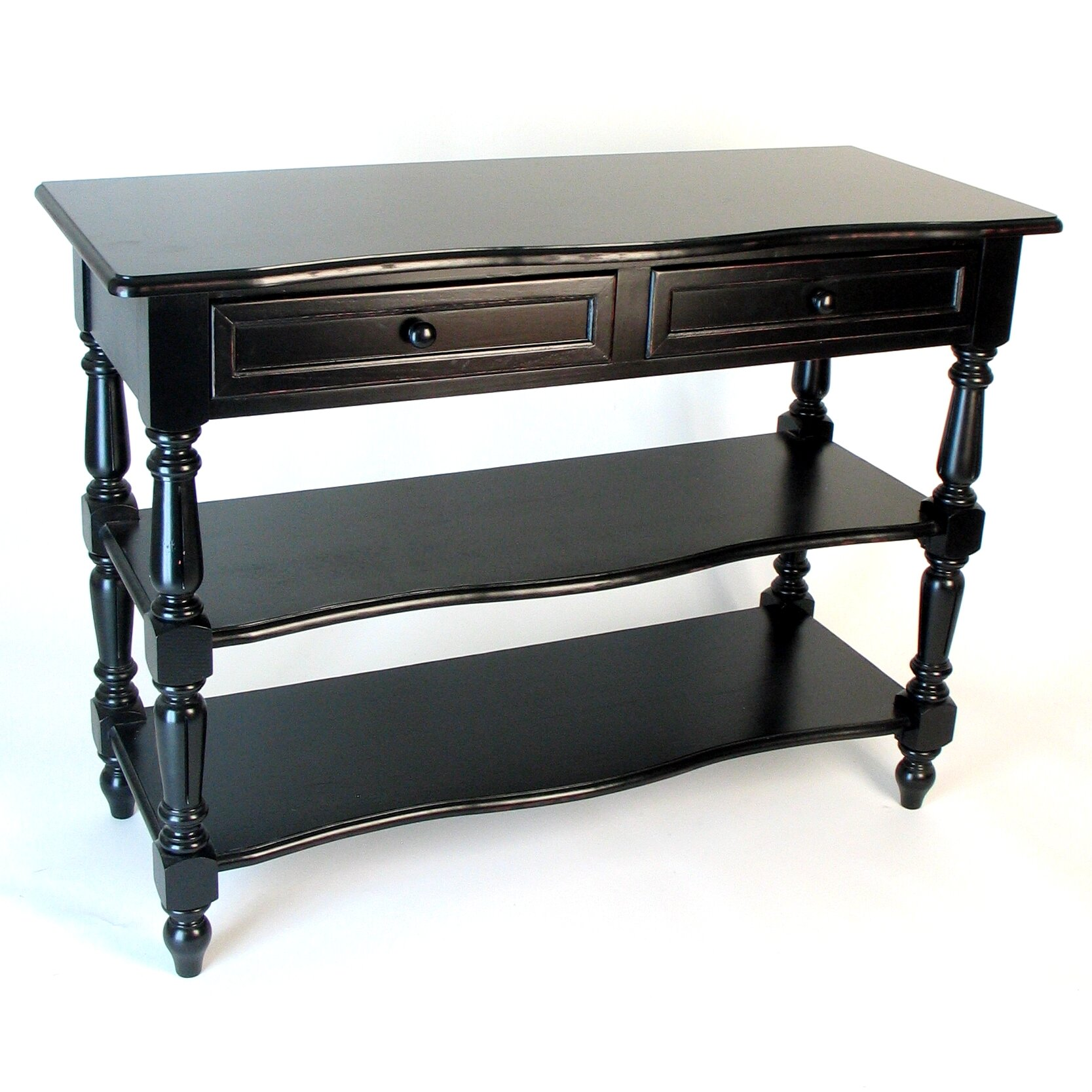 wayborn country console table reviews wayfair. Black Bedroom Furniture Sets. Home Design Ideas