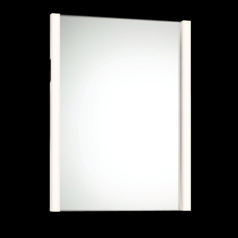 LED Vertical 2 Light Vanity Light with Mirror Wayfair
