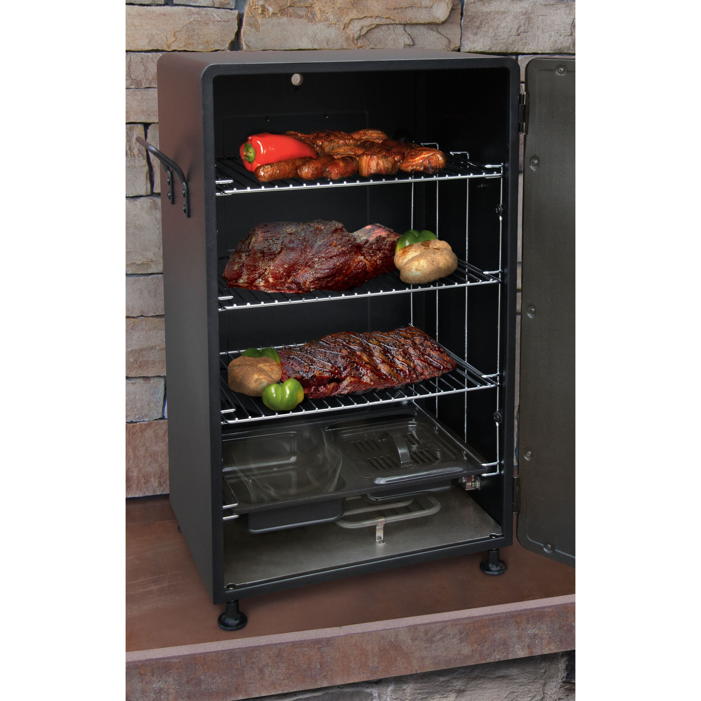 Smokintex Bbq Electric Smokers: Electric BBQ Smoker Barbecue Grill Outdoor Portable Meat
