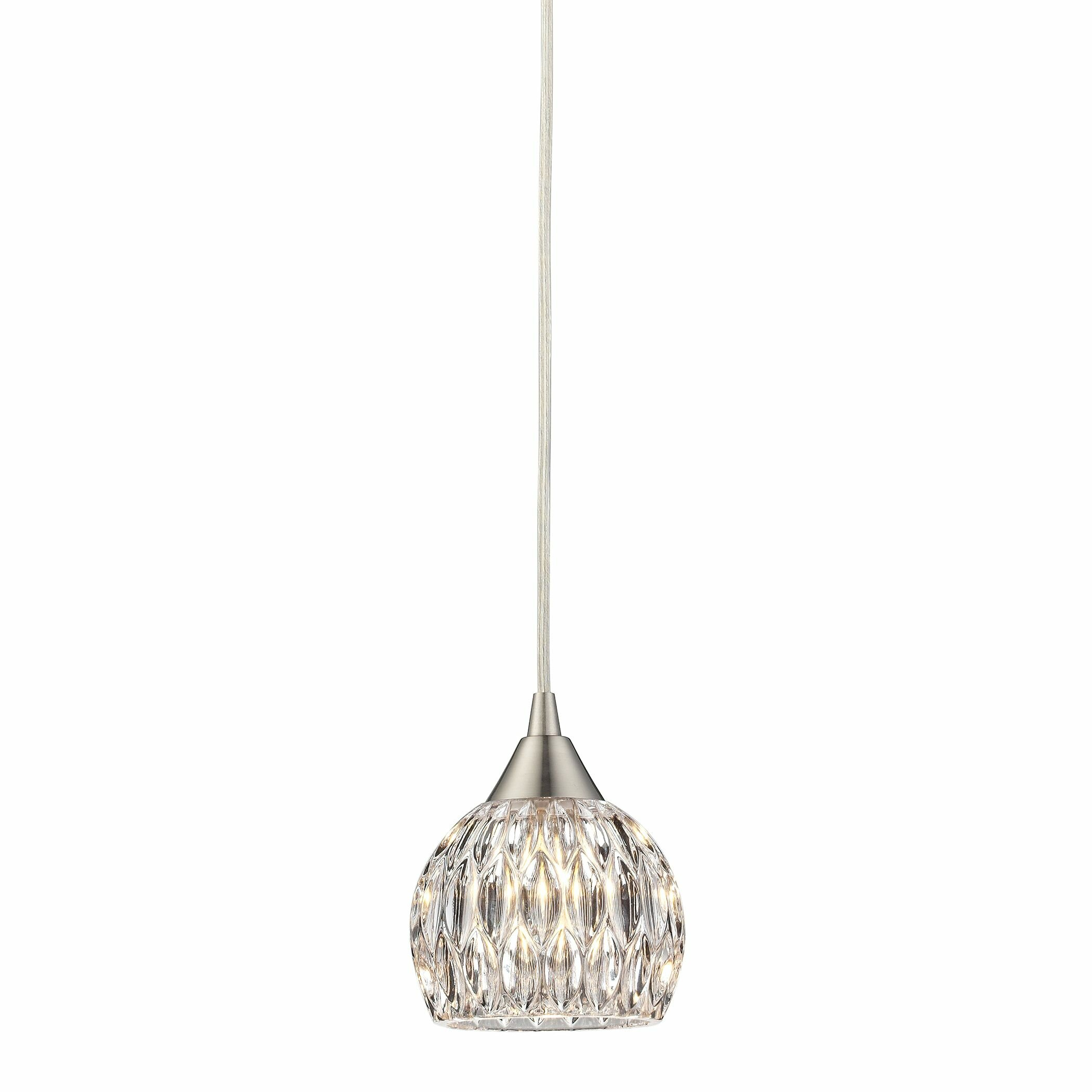 House Of Hampton Zola 1 Light Mini Pendant Amp Reviews Wayfair