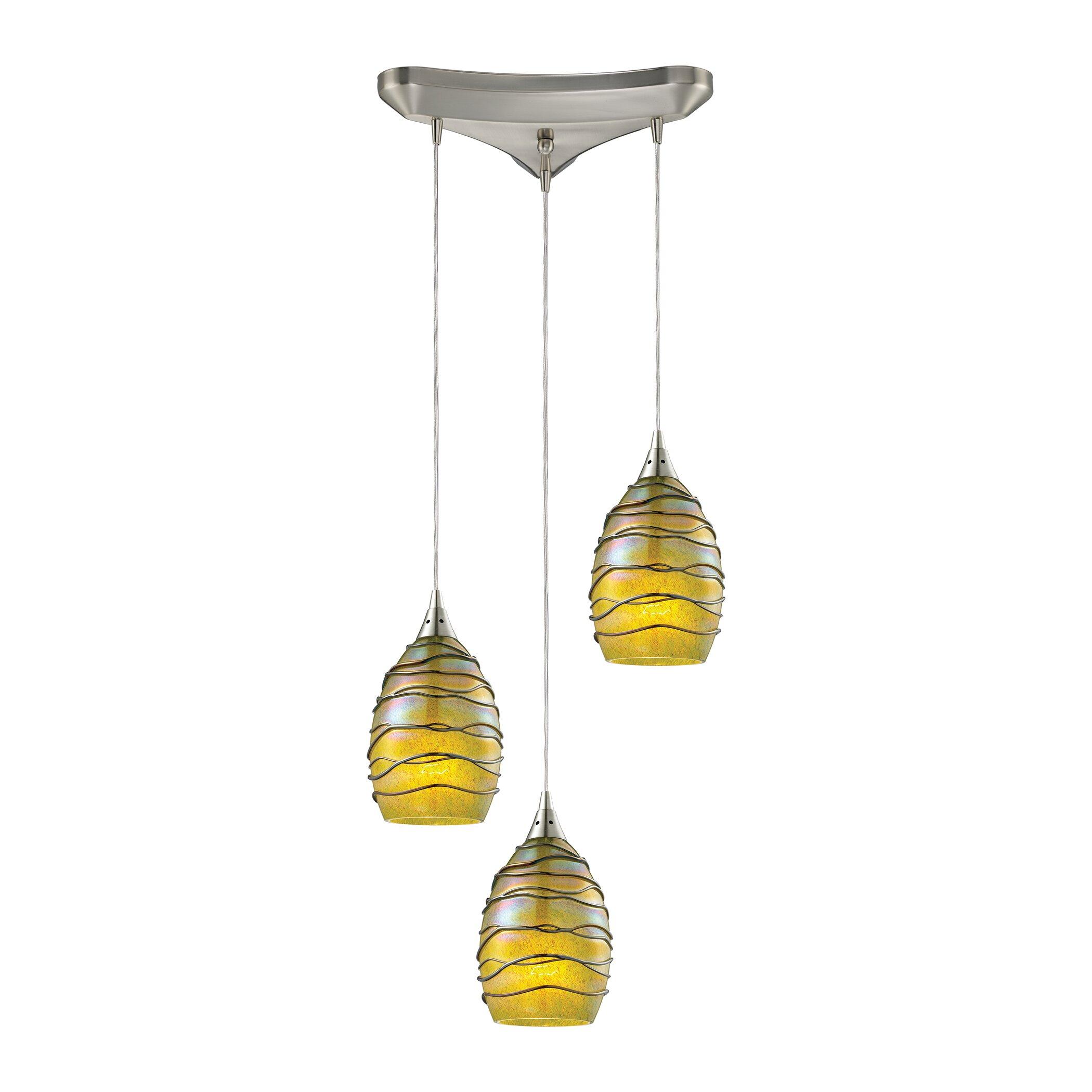 vines 3 light kitchen island pendant wayfair