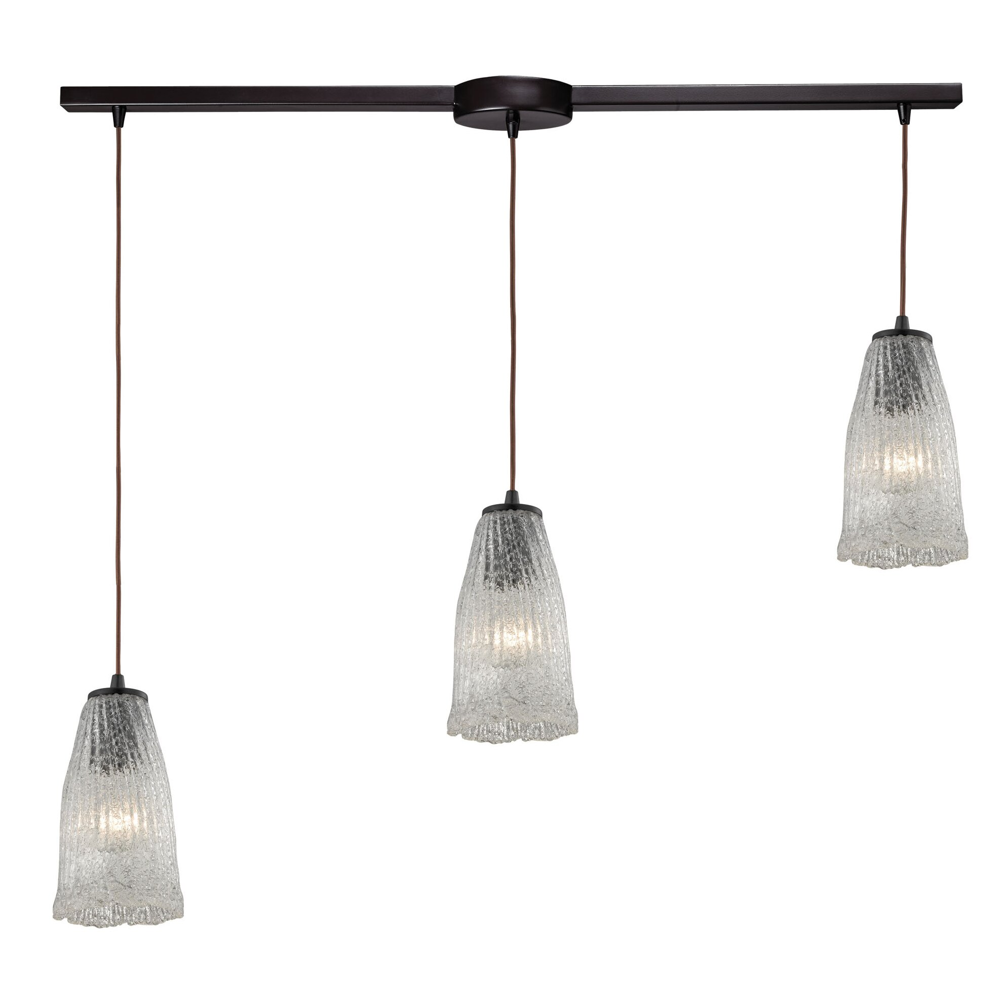 3 light kitchen island pendant wayfair for Kitchen island lighting pendants