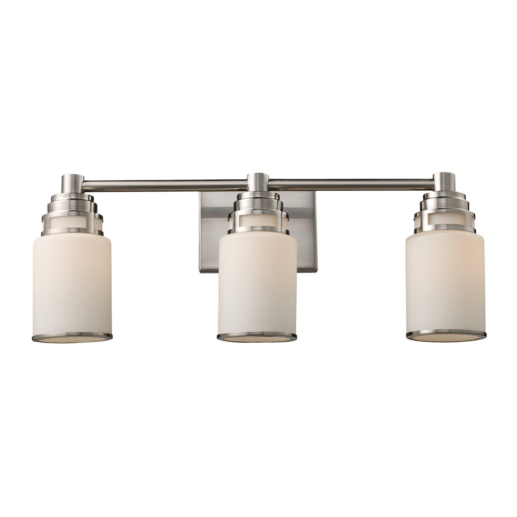 Elk lighting bryant 3 light bathroom vanity light for Elk bathroom lighting