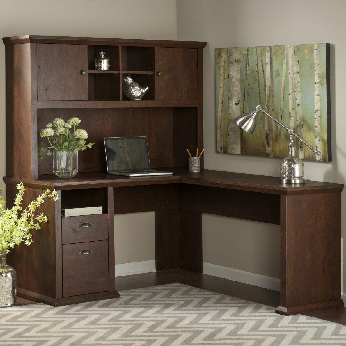 bush industries yorktown corner desk with hutch reviews wayfair. Black Bedroom Furniture Sets. Home Design Ideas