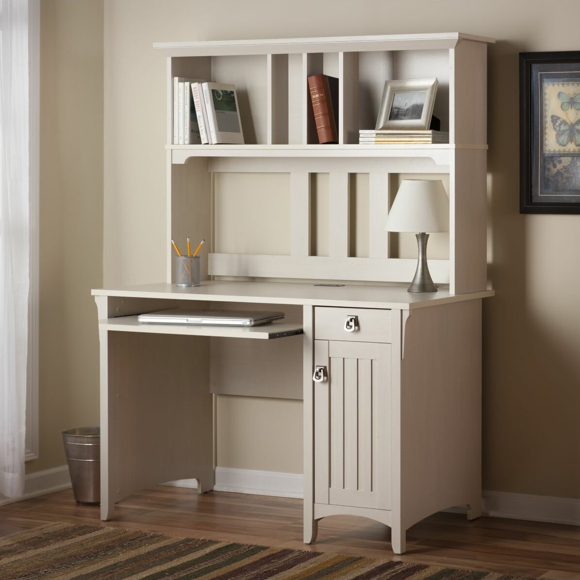 August Grove Computer Desk With Hutch Amp Reviews Wayfair