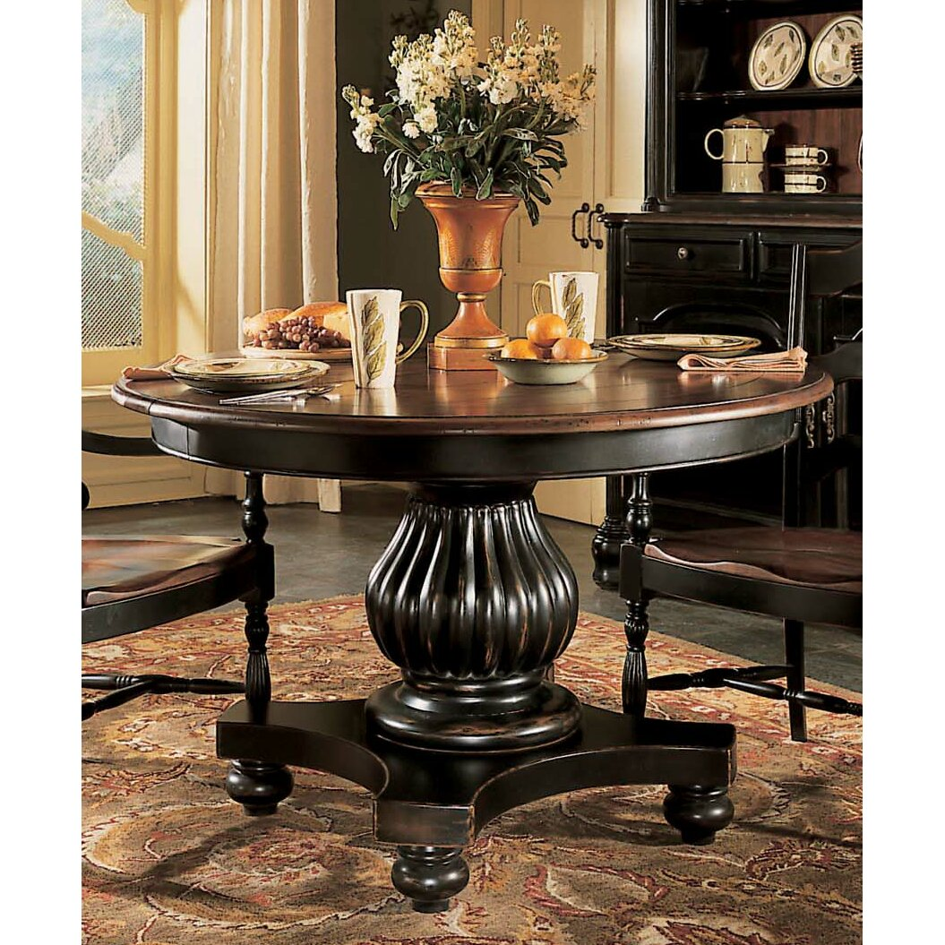Hooker Furniture Indigo Creek Pedestal Dining Table In