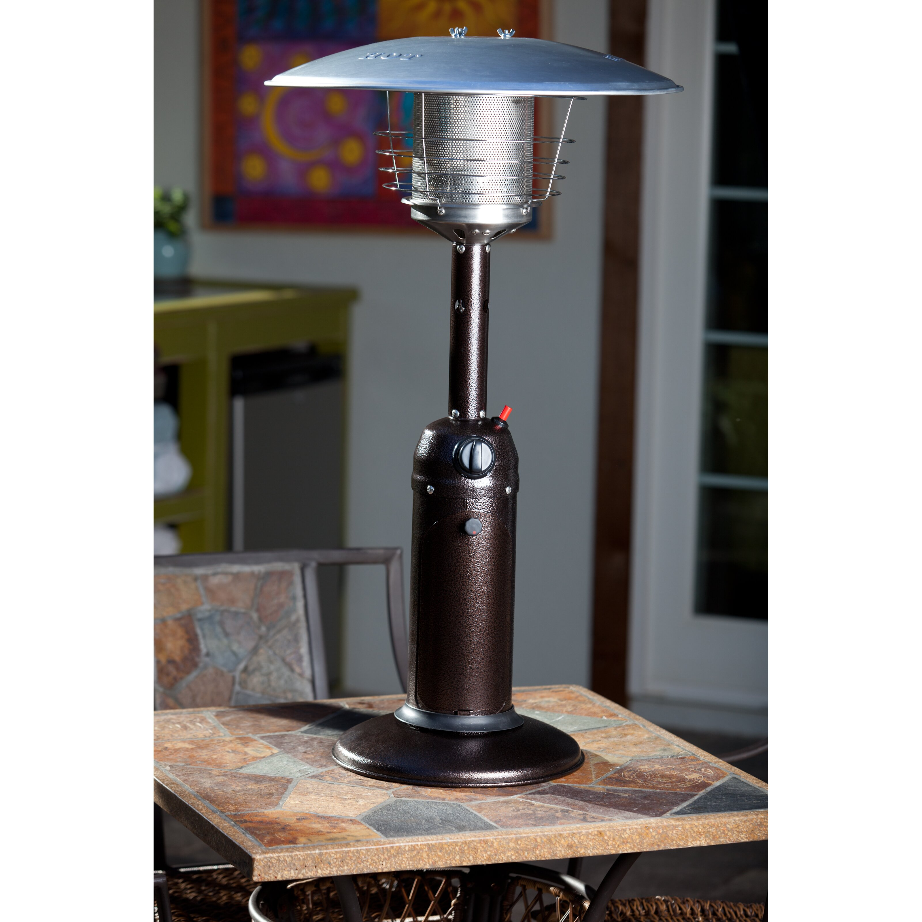 Dancing On Deck Commercial Fire Sense Table Top Propane Patio Heater