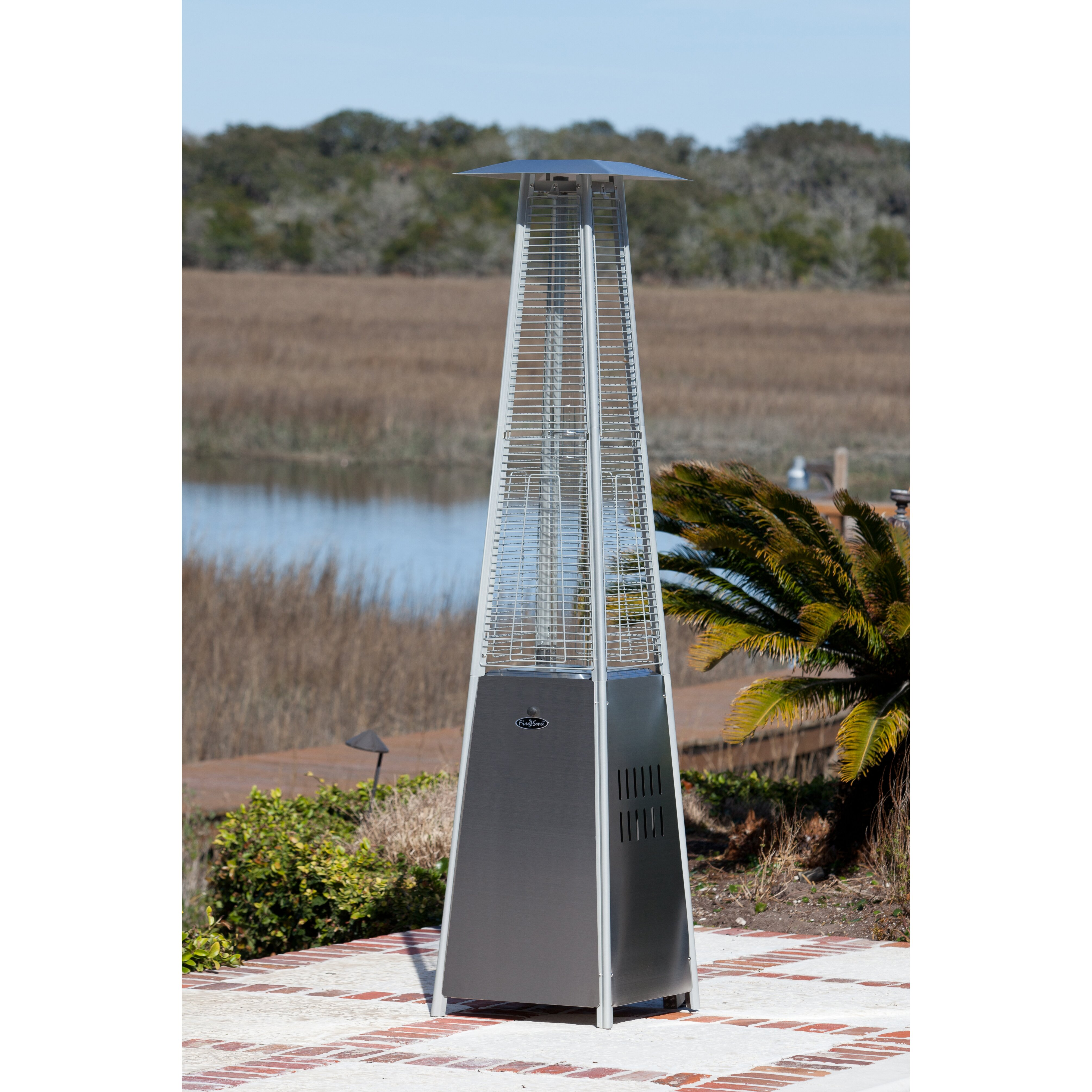 Fire Sense Pyramid Flame Propane Patio Heater & Reviews