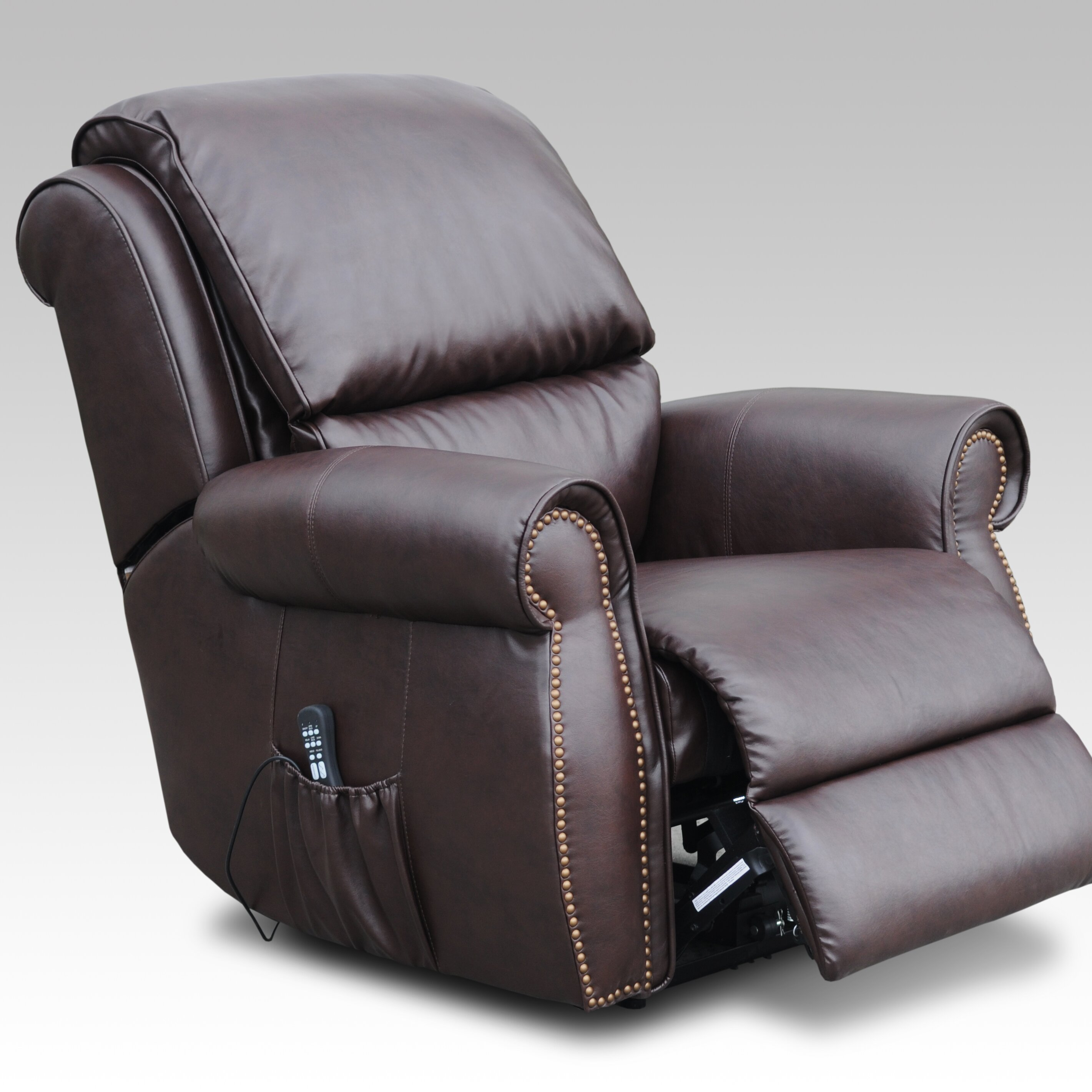 Electric tv recliner massage chair black with a footstool www vidaxl -  Hd Recliner Massage Chairs