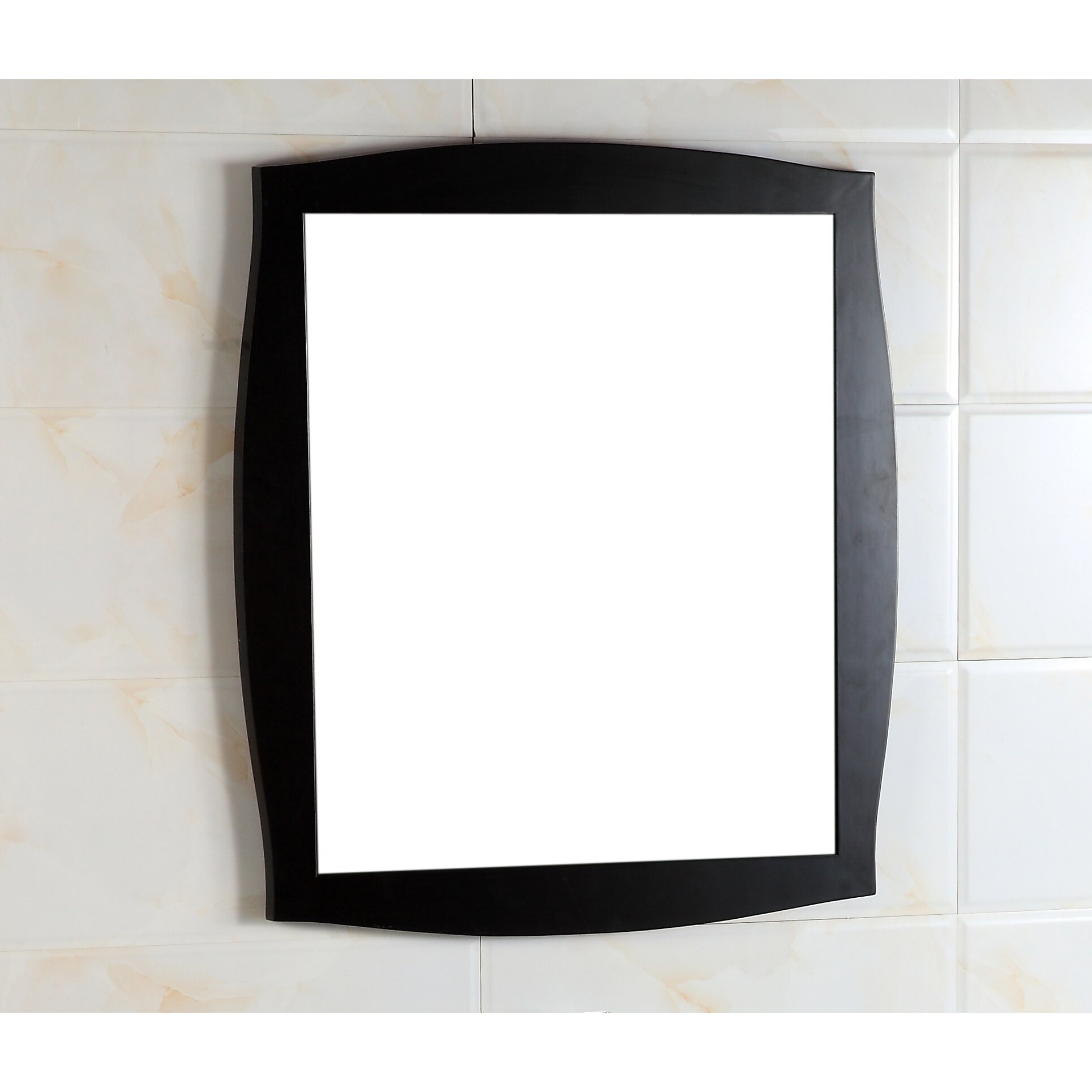 Wood Frame Mirror by Bellaterra Home