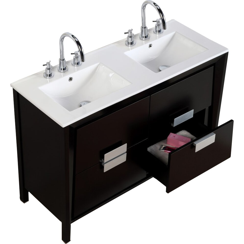 "Wayfair Bathroom Vanity >> 48"" Double Sink Vanity Set 