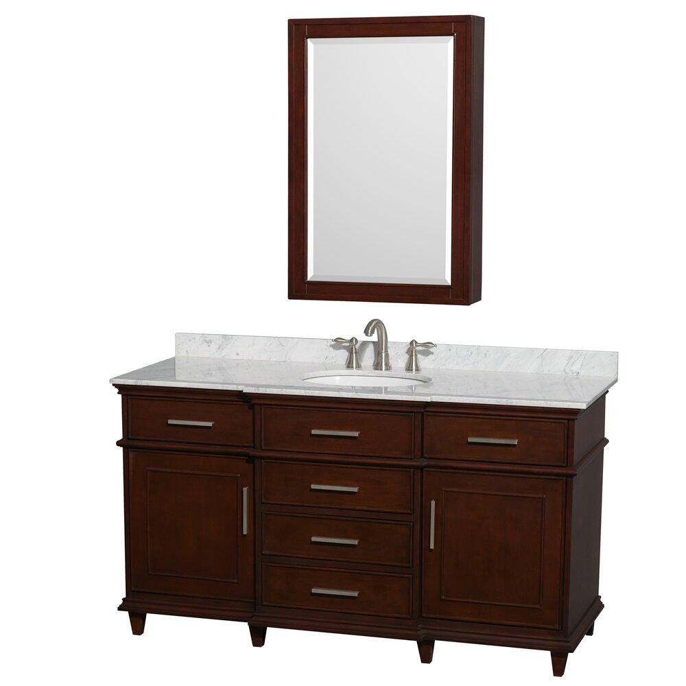 60 Bathroom Vanity : Wyndham Collection Berkeley 60