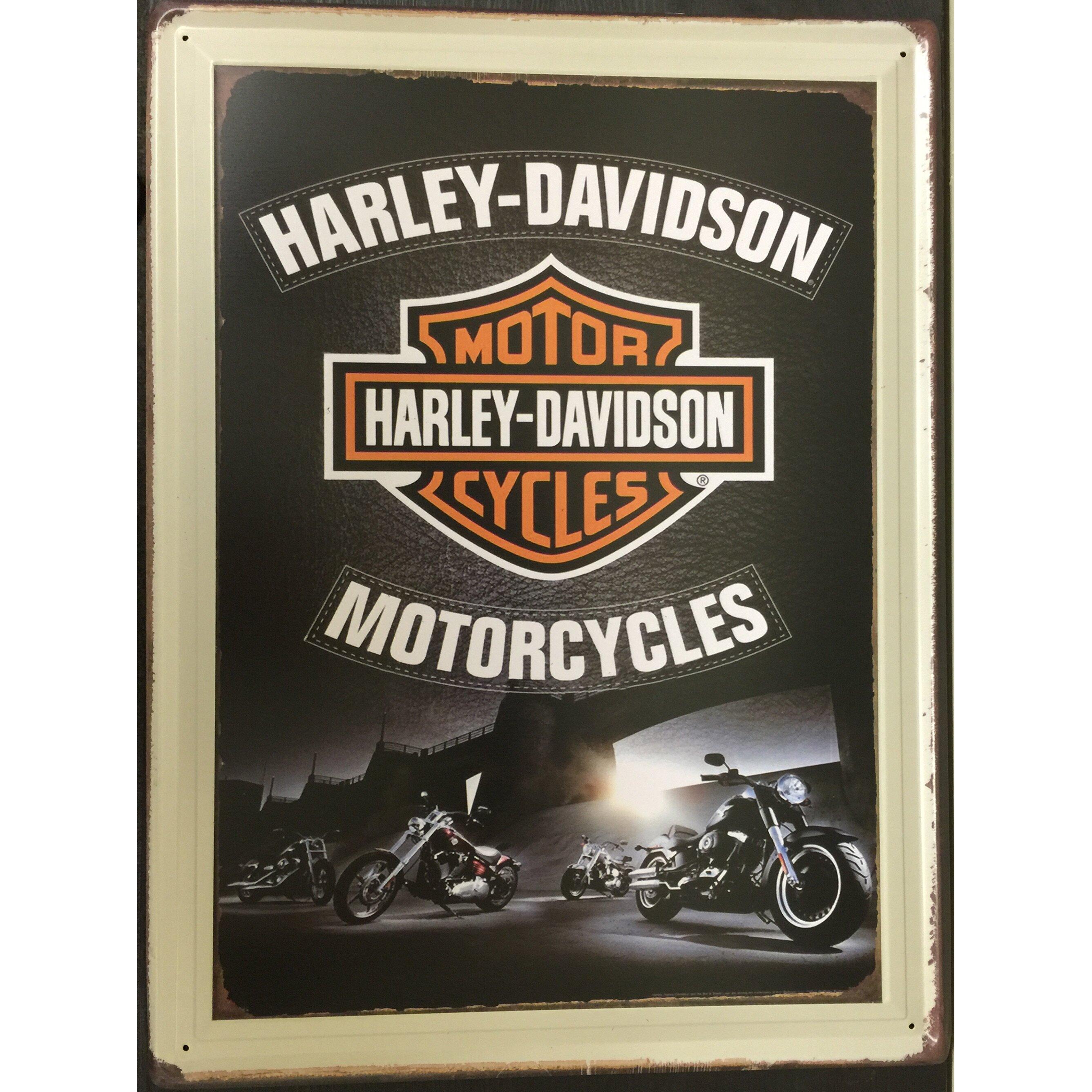 Creative Motion Harley Davidson Metal Plate Wall Decor