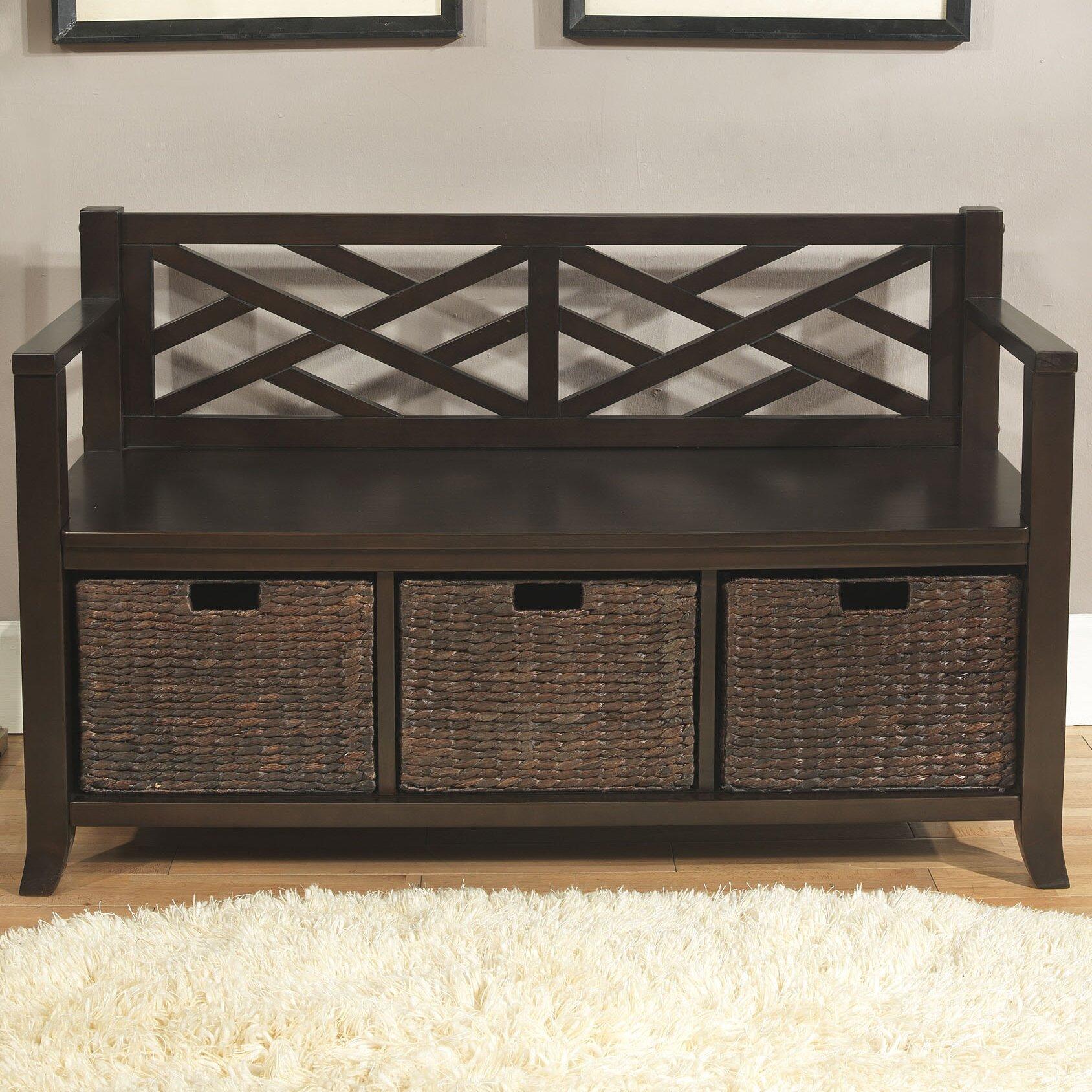 Foyer And Entryways Reviews : Simpli home adrien entryway storage bench reviews wayfair