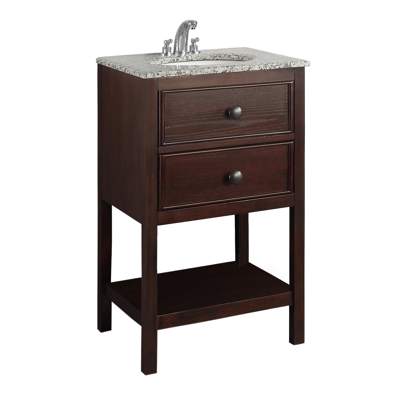 Simpli Home Burnaby 21quot; Single Bathroom Vanity Set amp; Reviews  Wayfair
