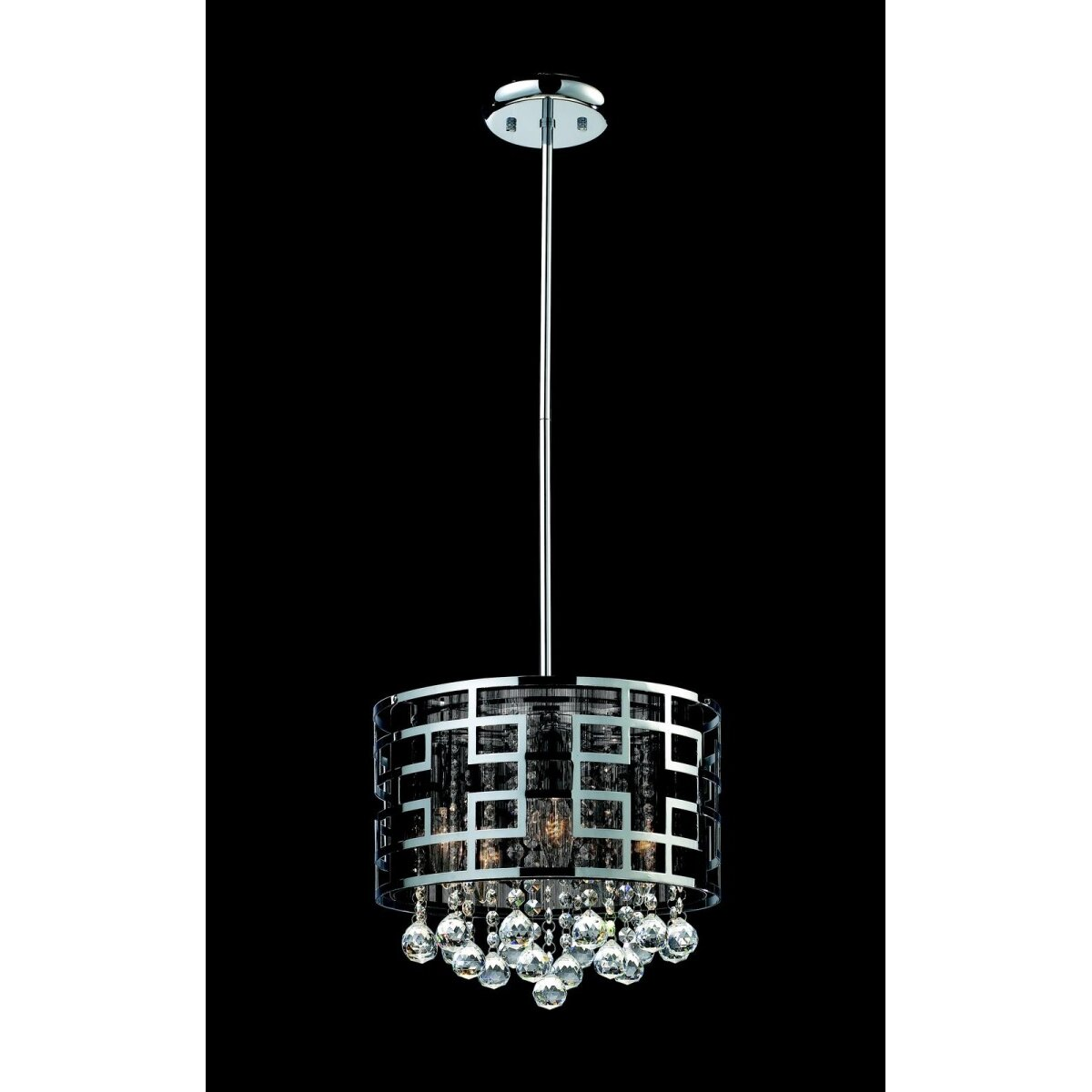 Mirach 6 light crystal chandelier in chrome wayfair for 6 light crystal chandelier