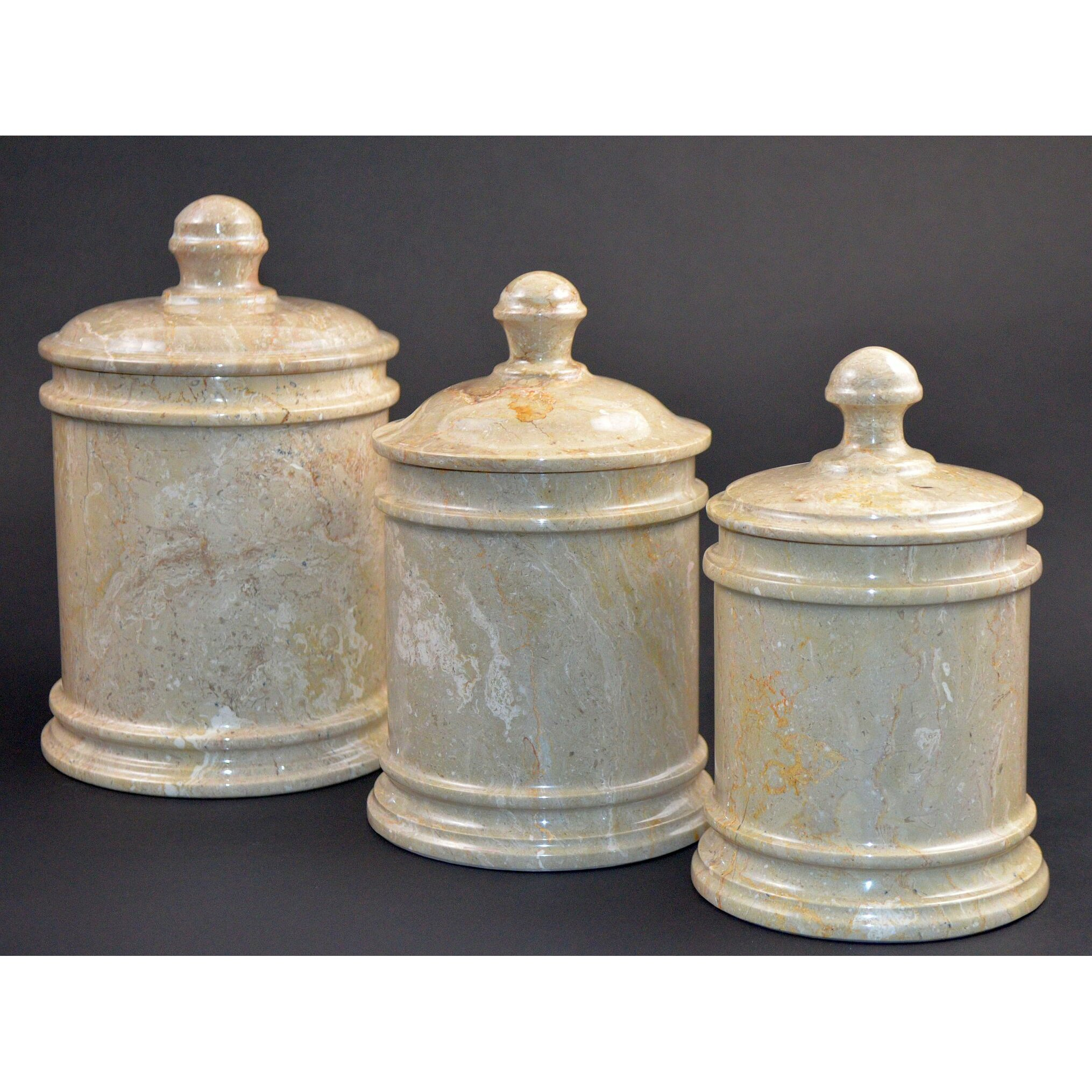 Decorative Kitchen Canisters Nature Home Decor Sahara Marble Kitchen Canister Amp Reviews