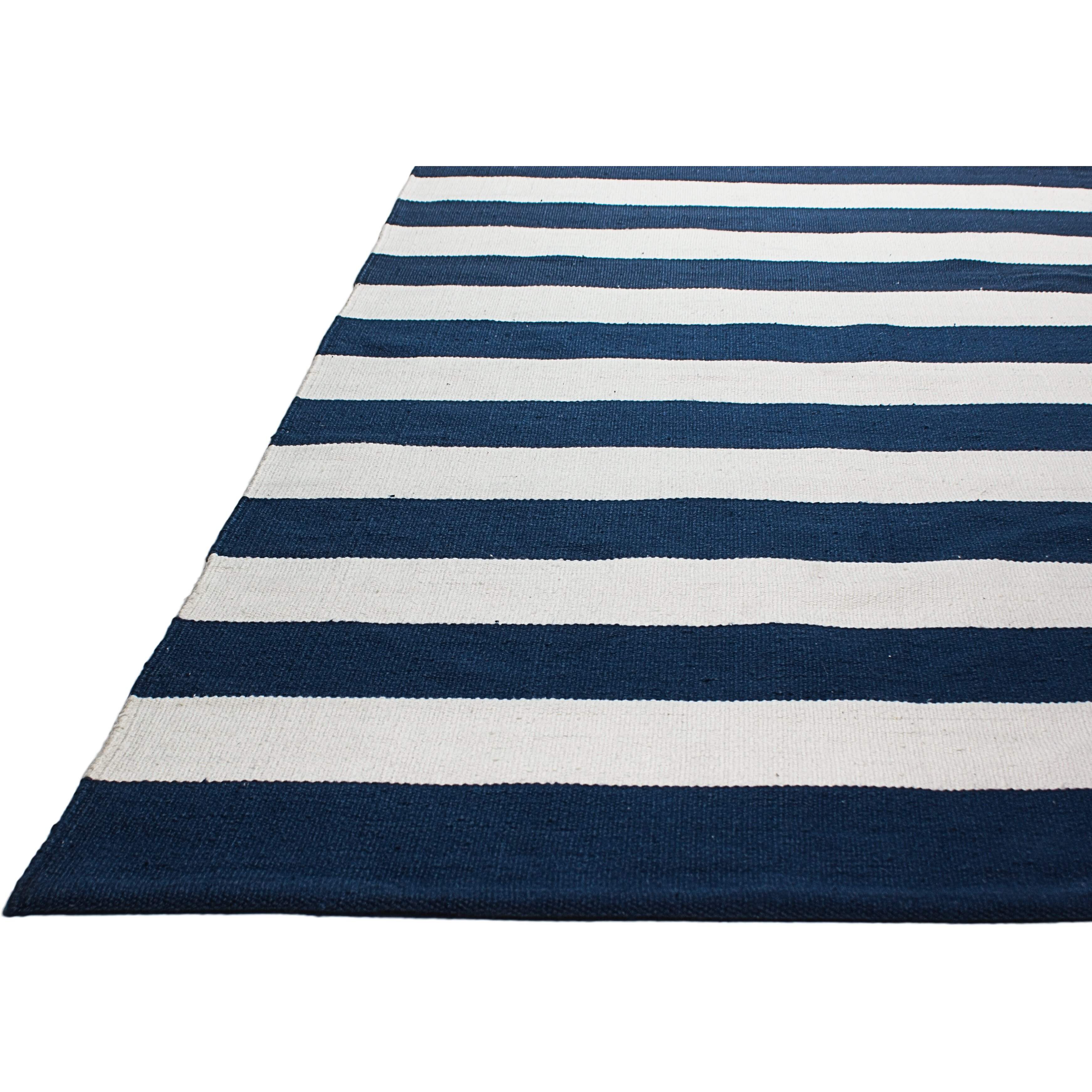 Fab Rugs Nantucket Striped Blue & White Indoor Outdoor