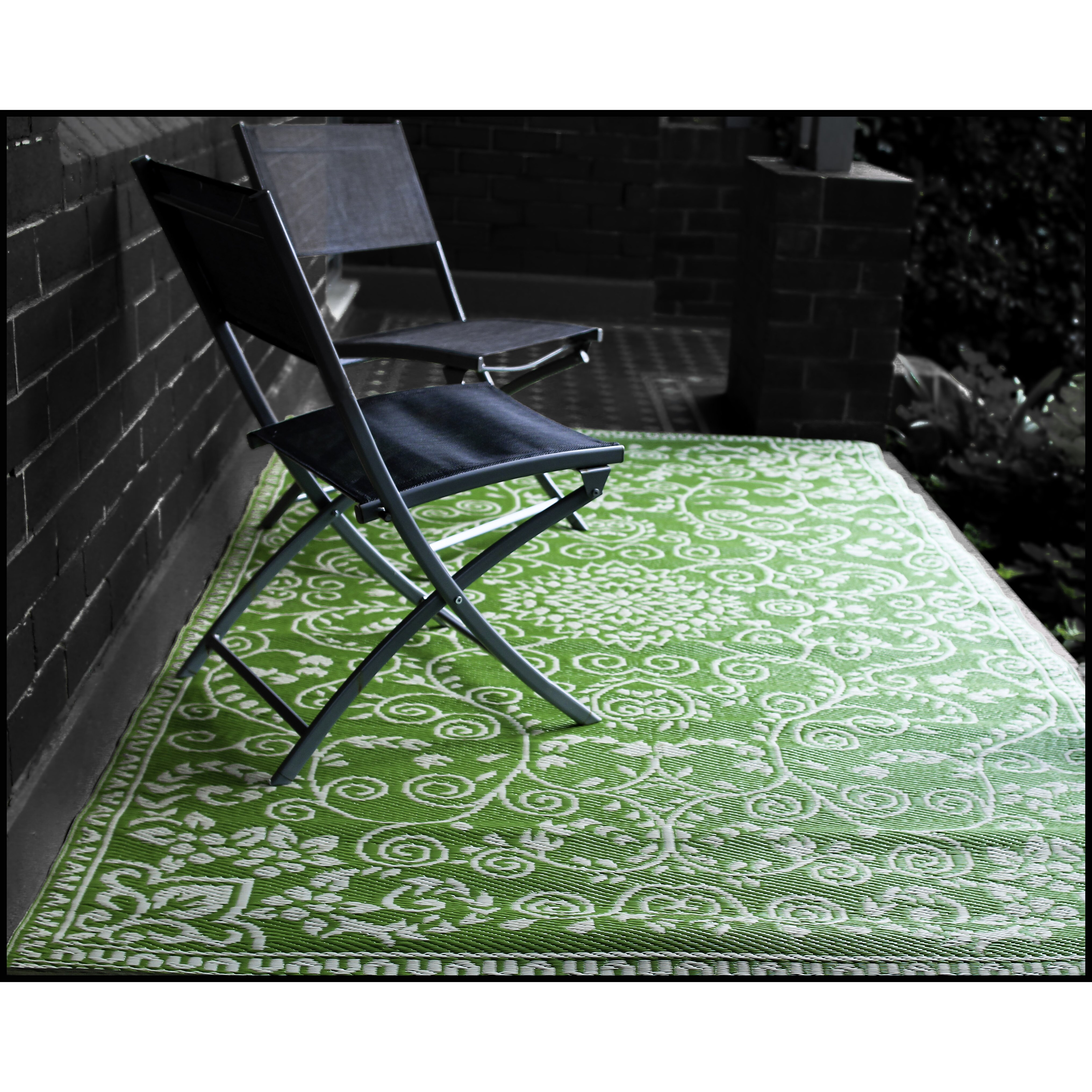 Lime Green Area Rug: Fab Rugs World Murano Lime Green Indoor/Outdoor Area Rug