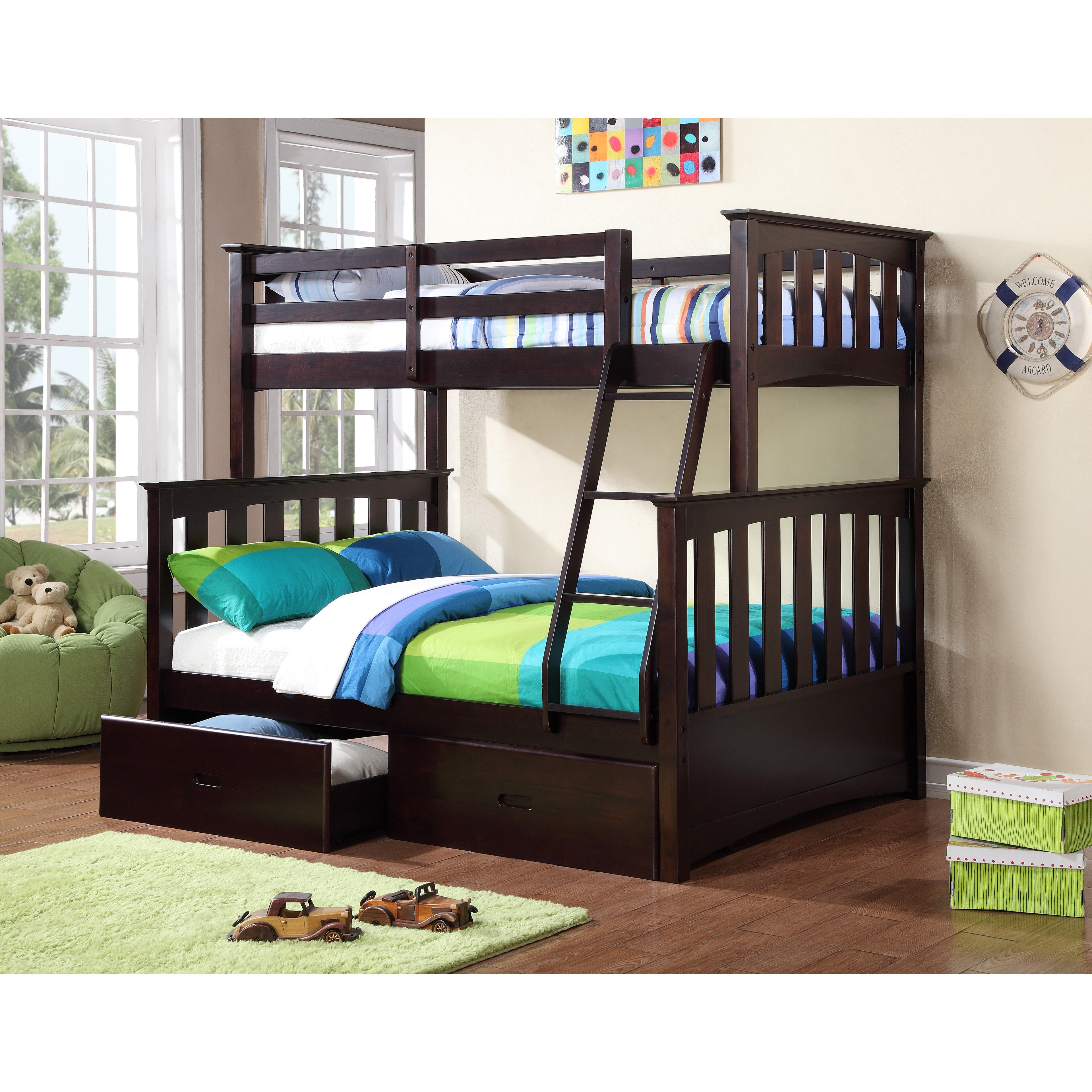 Williams Import Co Kira Twin over Full Bunk Bed with