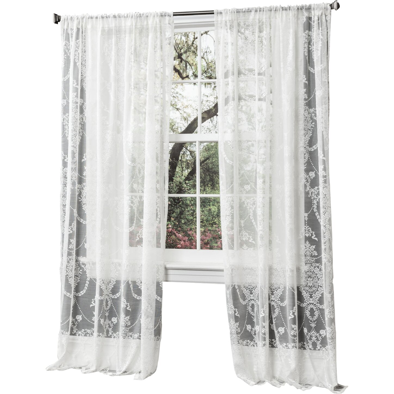 Lush Decor Anya Sheer Window Curtain Panel & Reviews   Wayfair