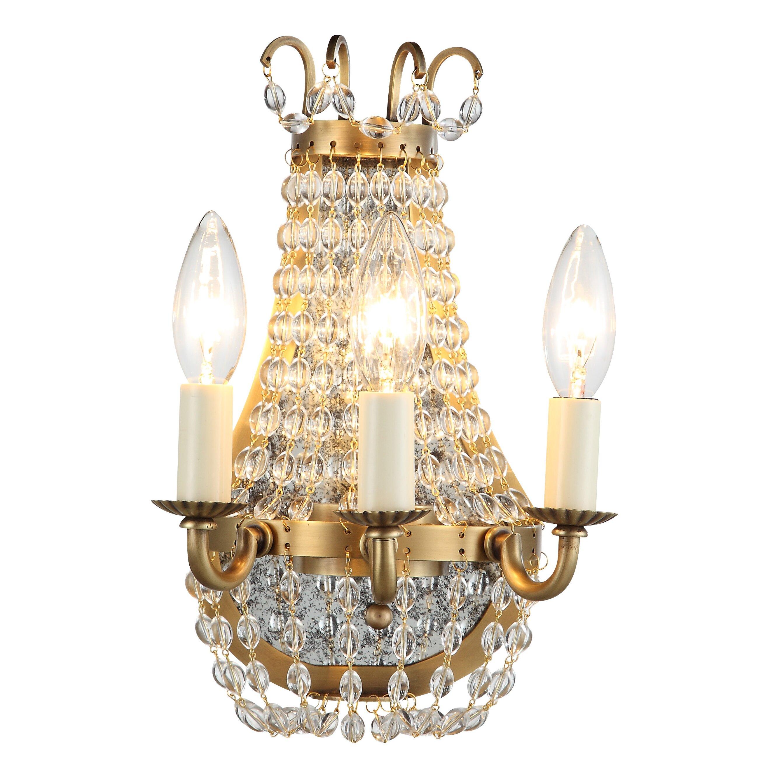 Elegant Lighting Wall Sconces : Elegant Lighting Roma 3 Light Wall Sconce & Reviews Wayfair