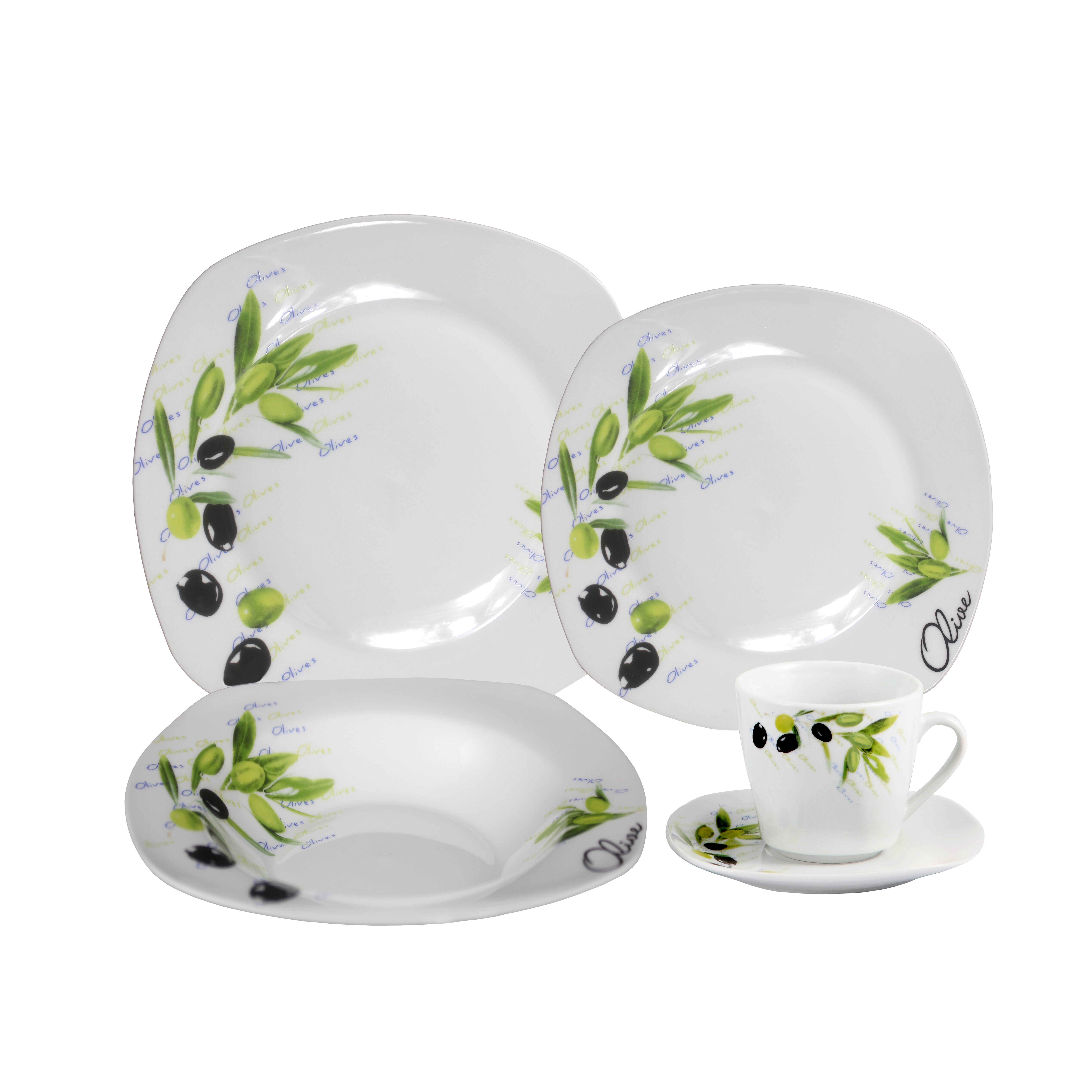 porcelain 20 piece square dinnerware set wayfair