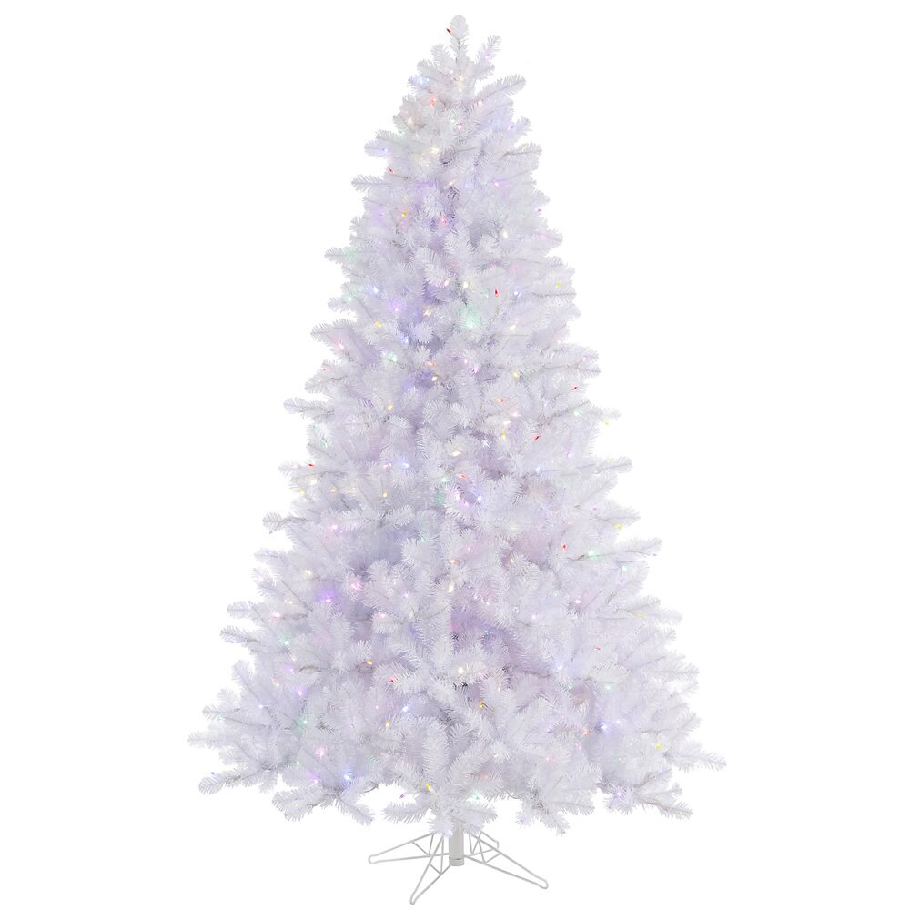 75 Crystal White Pine Artificial Christmas Tree with 650  : 75 Crystal White Pine Artificial Christmas Tree with 650 LED Multi Colored Lights with Stand A135777LED from www.wayfair.com size 1000 x 1000 jpeg 111kB