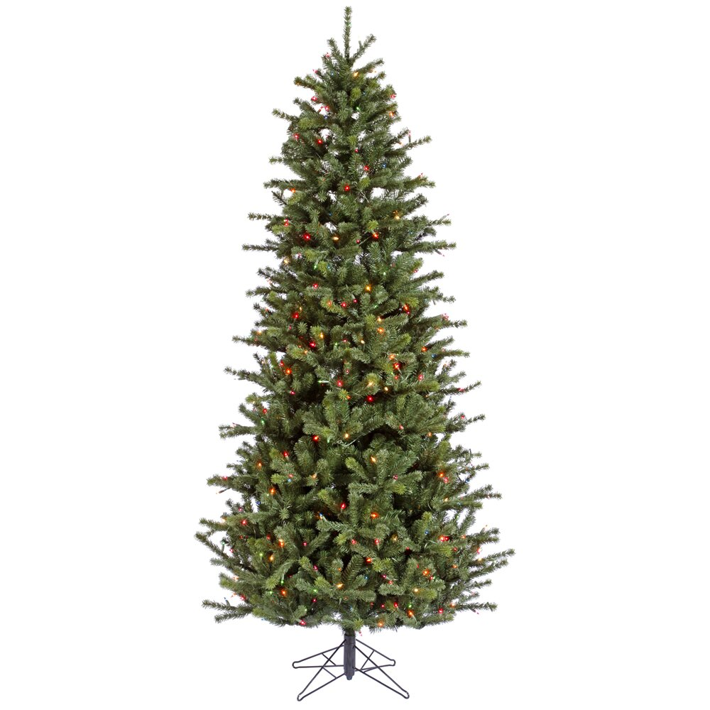 4.5' Carver Slim Artificial Christmas Tree with Dura-Lit ...