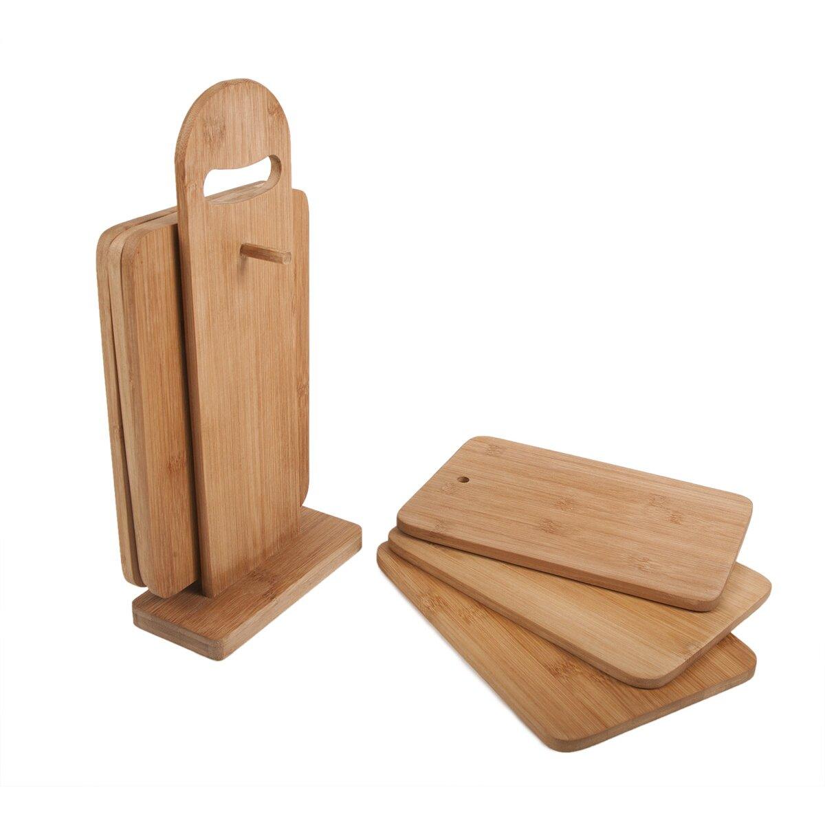 Piece Cutting Board Set Bamboo Bed Bath