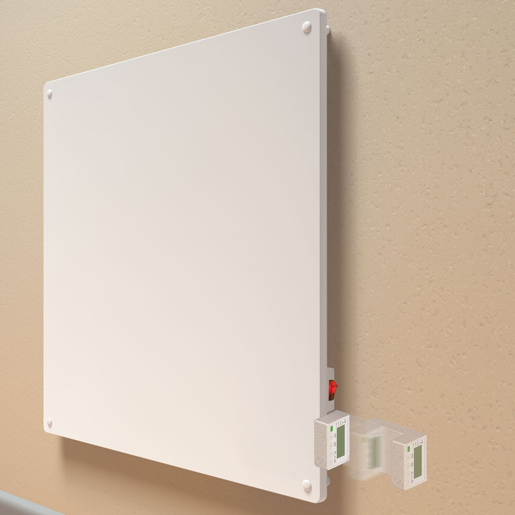 Wall Mount Heater With Thermostat : Econo heat watt wall mounted electric convection panel
