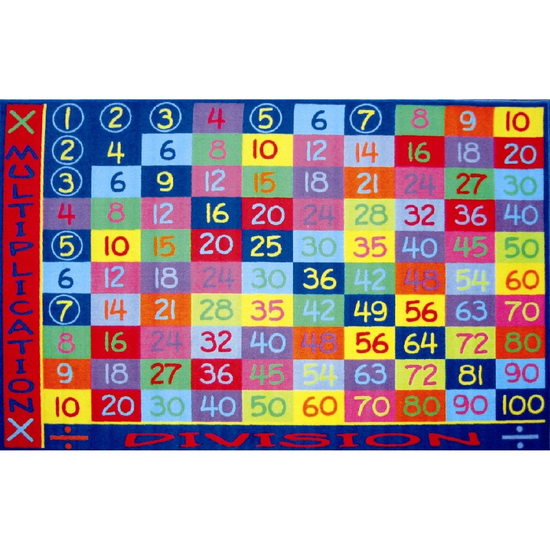 Fun Time Multiplication Clroom Area Rug