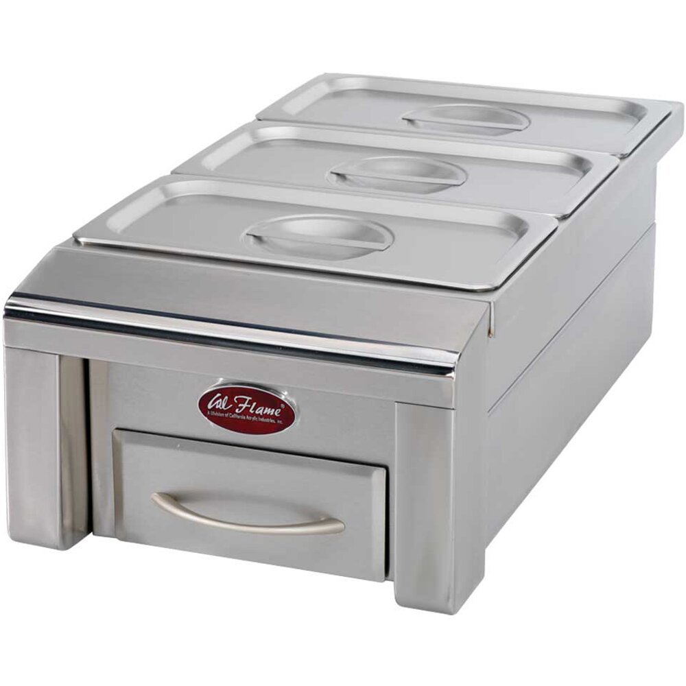 "12"" Drop-In Food Warmer for Outdoor Grill Island 