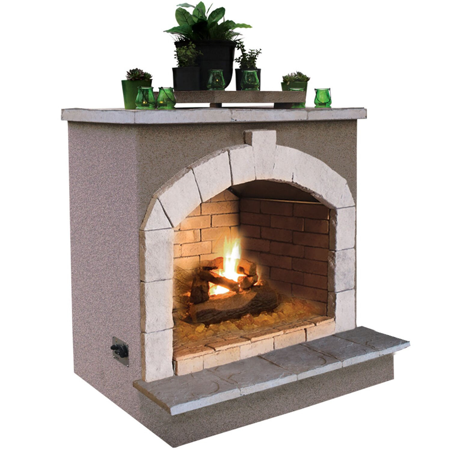 CalFlame Propan... Outdoor Propane Gas Fireplace