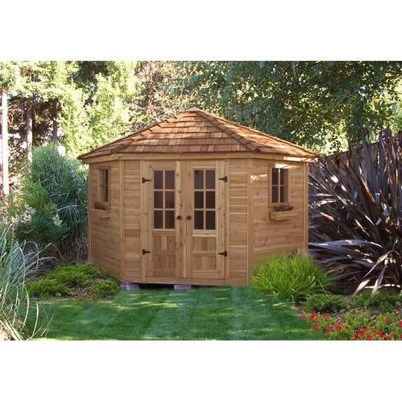 Outdoor Living Today 9 Ft W X 9 Ft D Wood Garden Shed Reviews Wayfa