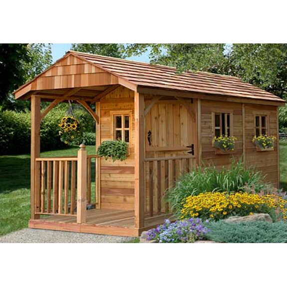 Outdoor Living Today Santa Rosa 8 Ft. W x 12 Ft. D Wood ... on Outdoor Living Buildings id=56815
