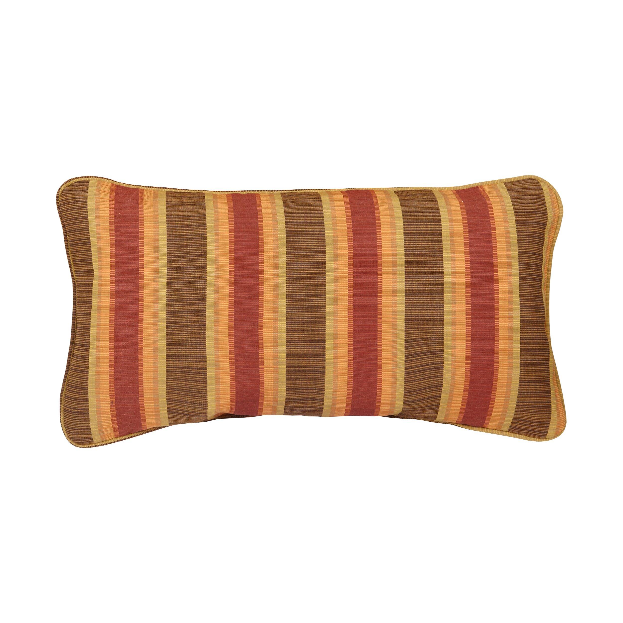 mozaic company corded autumn stripes outdoor sunbrella lumbar pillow conversation sets patio autumn furniture