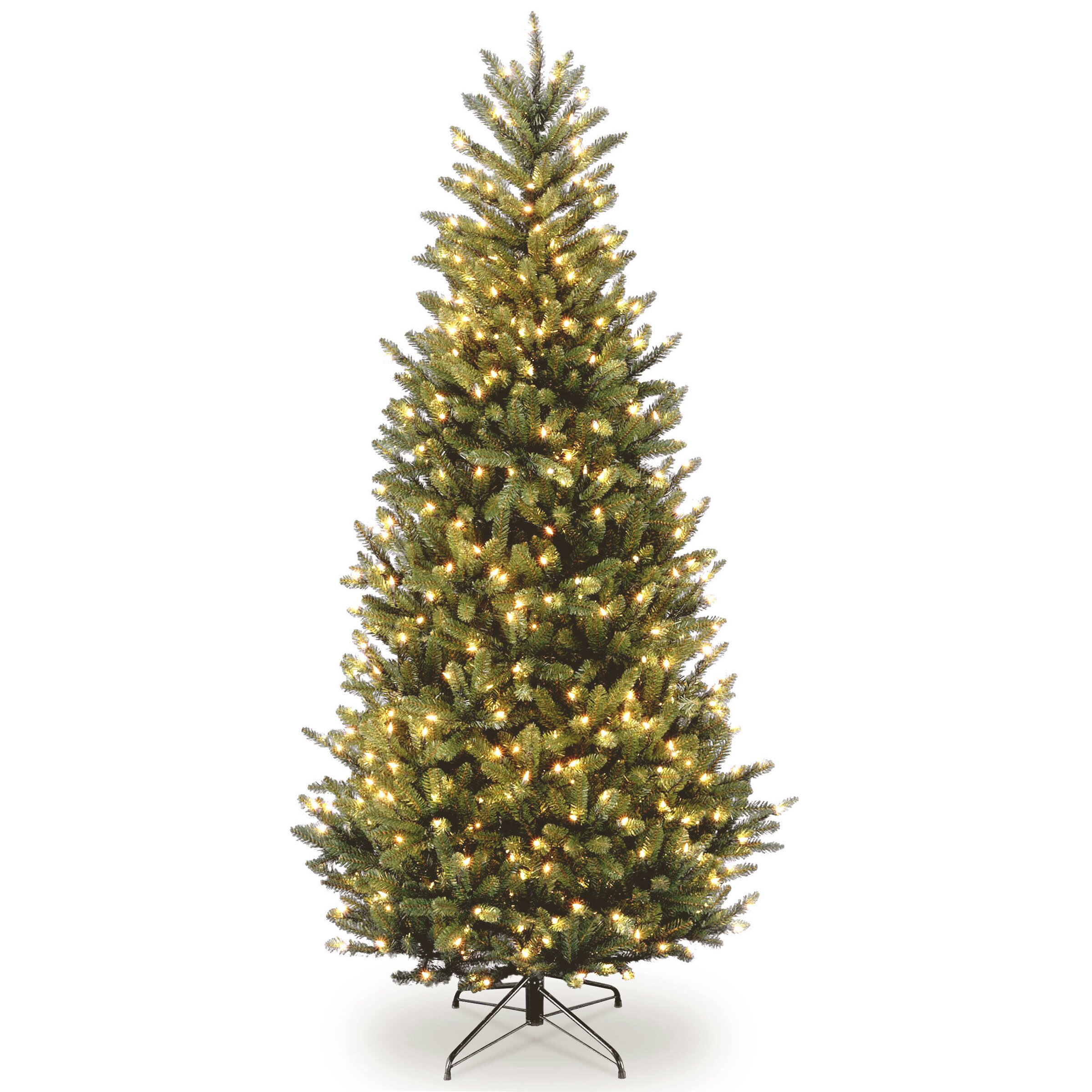 Next Slim Christmas Tree: 7.5' Natural Fraser Slim Fir Hinged Tree With 600 Clear